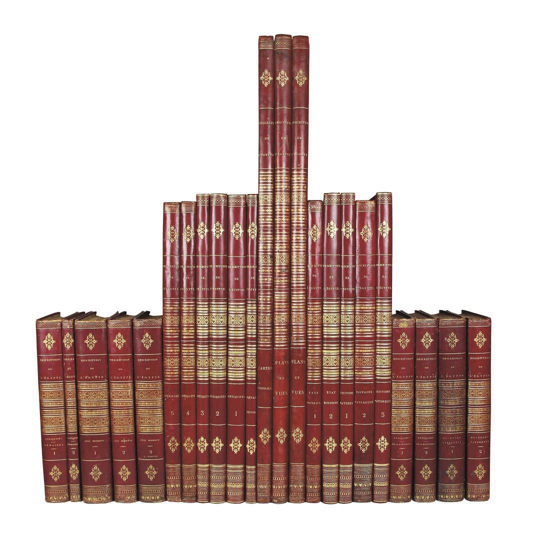 132216€ Description de l'Égypte (…), publié par les ordres de Sa Majesté l'empereur Napoléon le Grand, édition originale en vingt-trois volumes dont