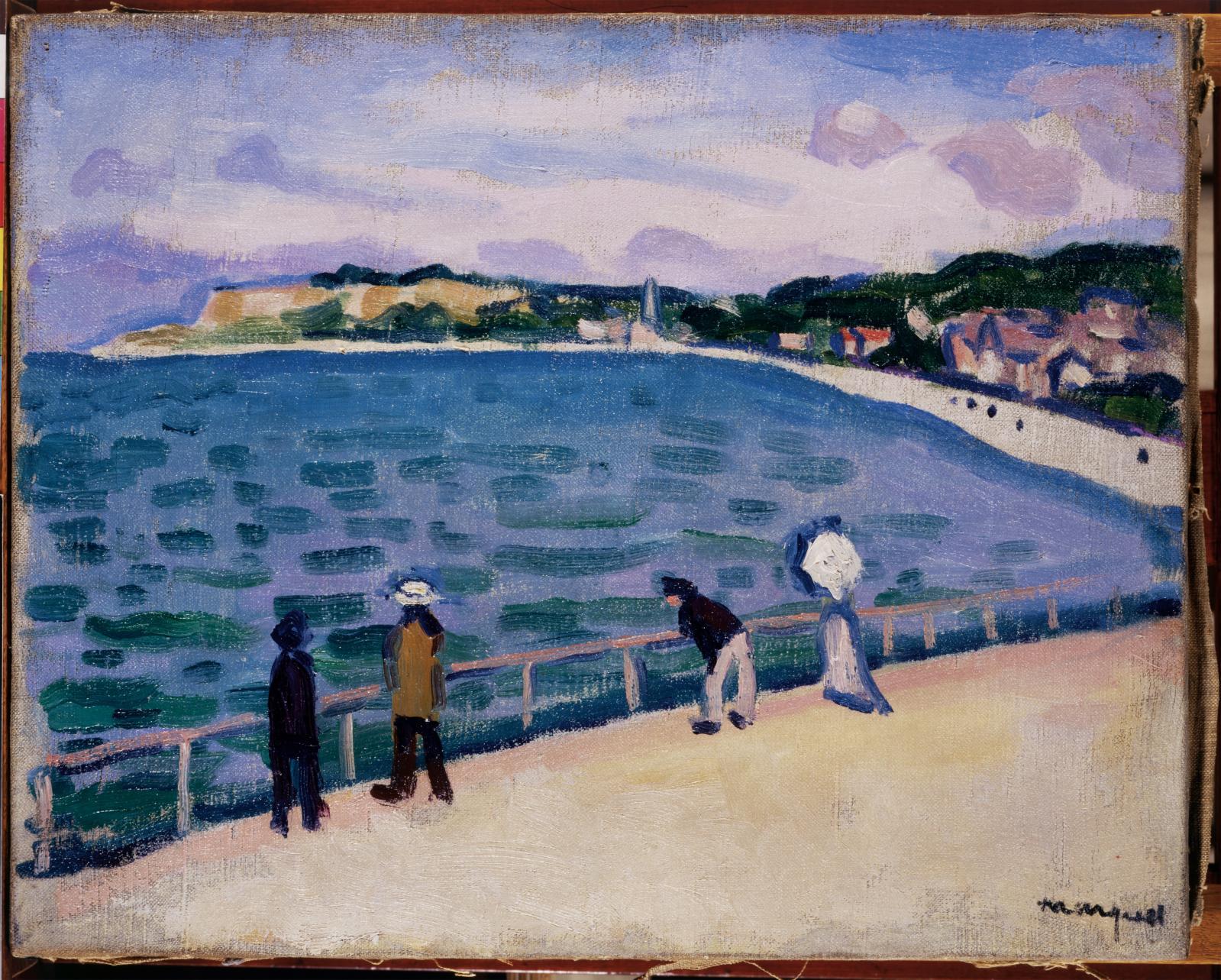 Promenade sur la jetée de Sainte-Adresse, 1905-1906, huile sur toile, 32x40cm (détail). Paris, Drouot-Richelieu, 24novembre 2010, Millon &Associé