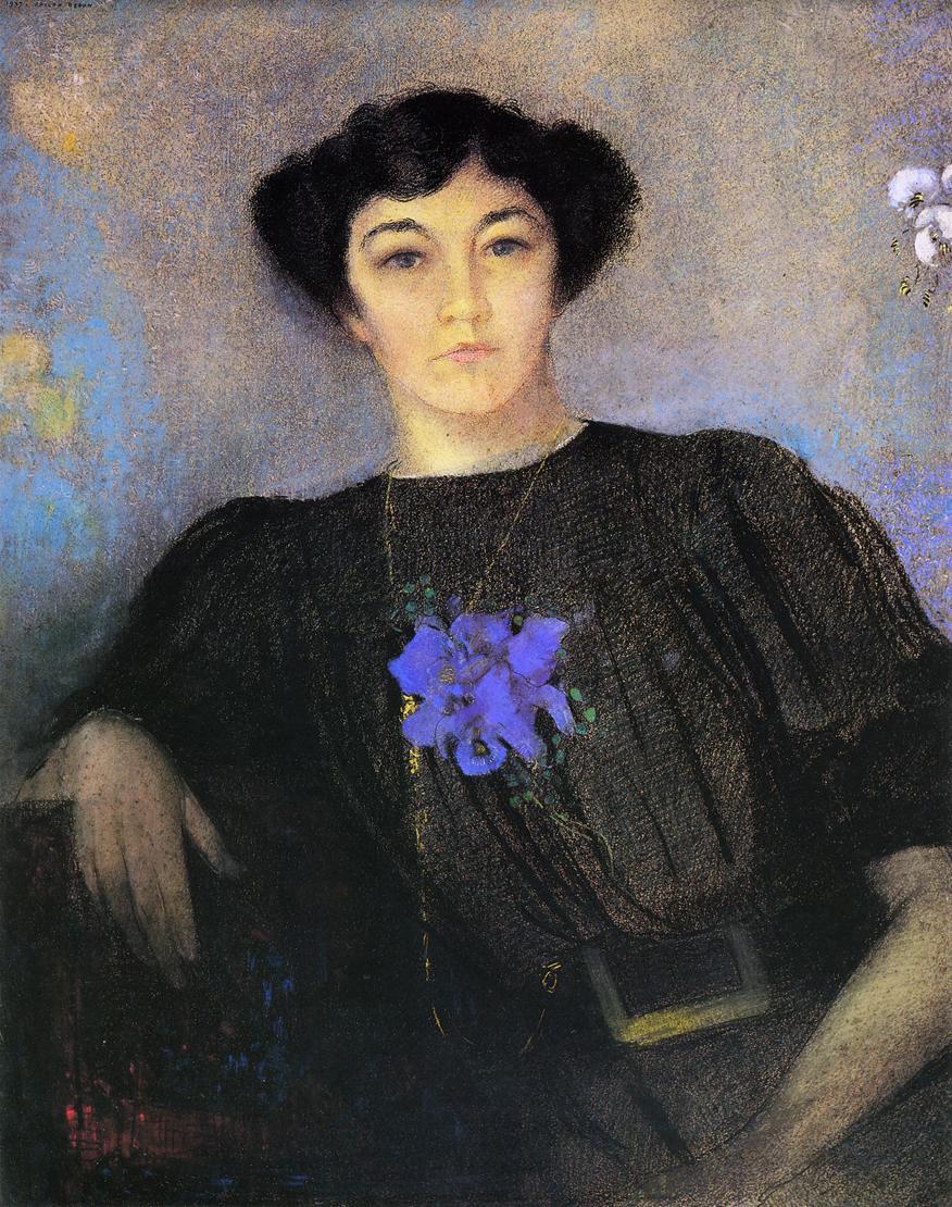 Odilon Redon, Portrait de Madame Fayet, 1907, pastel sur papier, collection particulière.