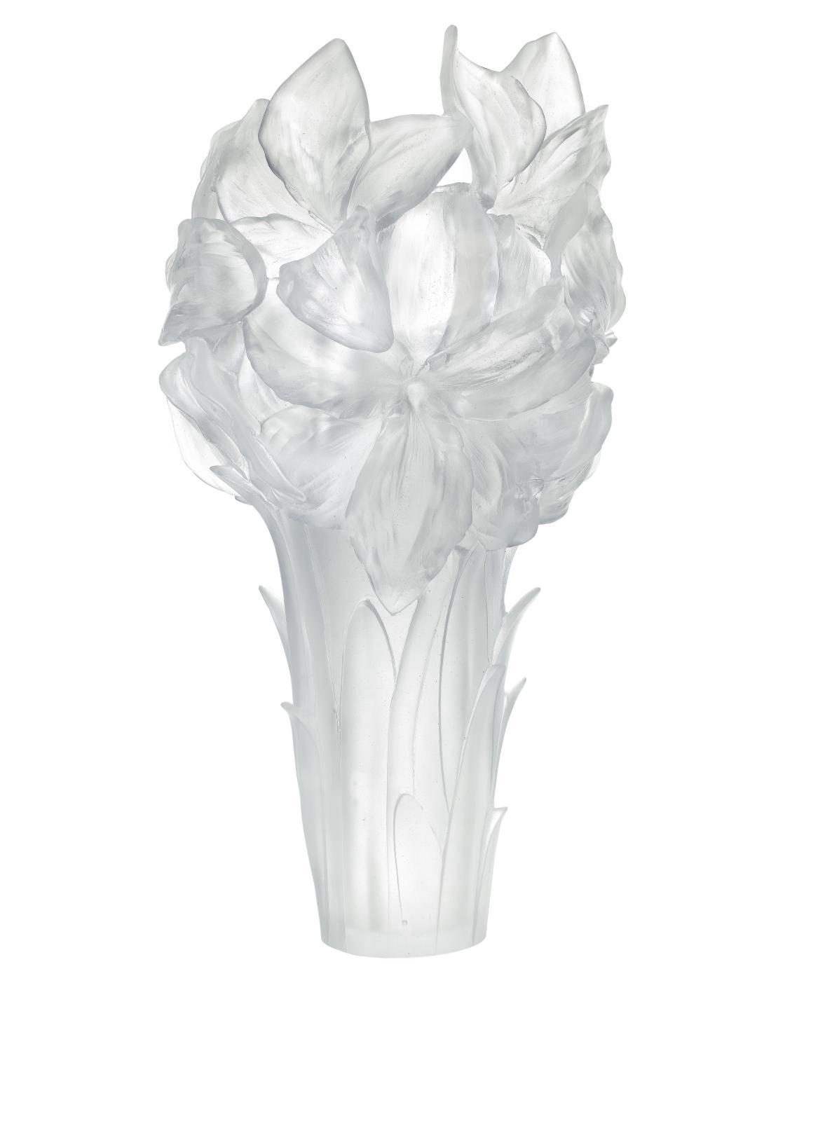 Daum, collection «Amaryllis», vase blanc.
