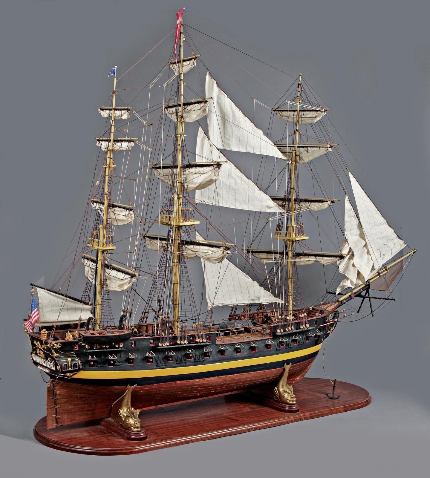 Maquette au 1/60 du Constitution en bois sculpté, 1795, l.160cm. Paris, Drouot-Richelieu, le 12mars2012. Joron-Derem OVV. Adjugé: 1301€