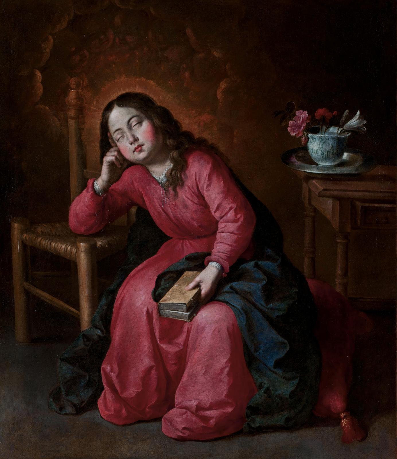 Francisco de Zurbarán (1598-1664), La Vierge enfant endormie, huile sur toile, 103x90cm (détail). Galerie Canesso. Photo Galerie Canesso