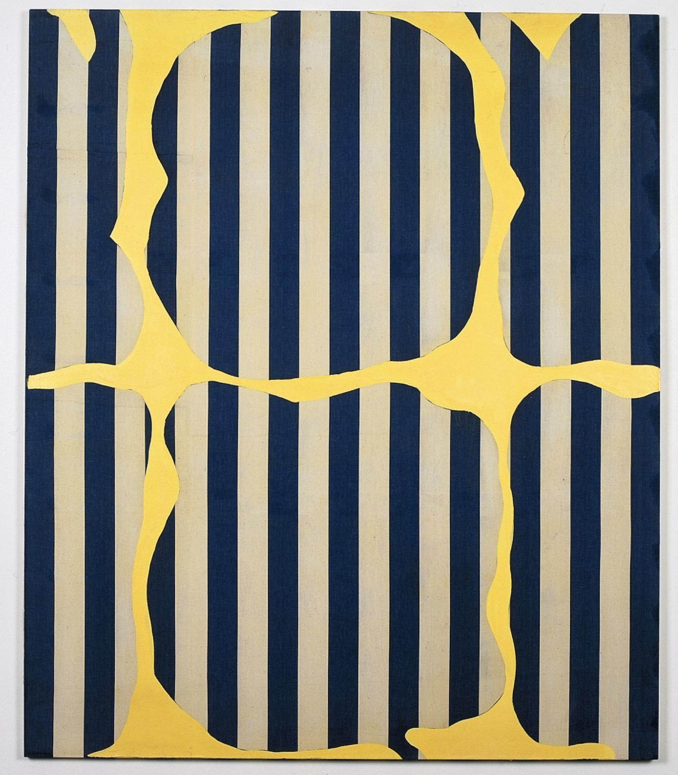 Daniel Buren (né en 1938), Photo-souvenir: peinture aux formes variables, mai 1966, peinture acrylique sur toile, 212,5x180,5cm (détail). Galerie