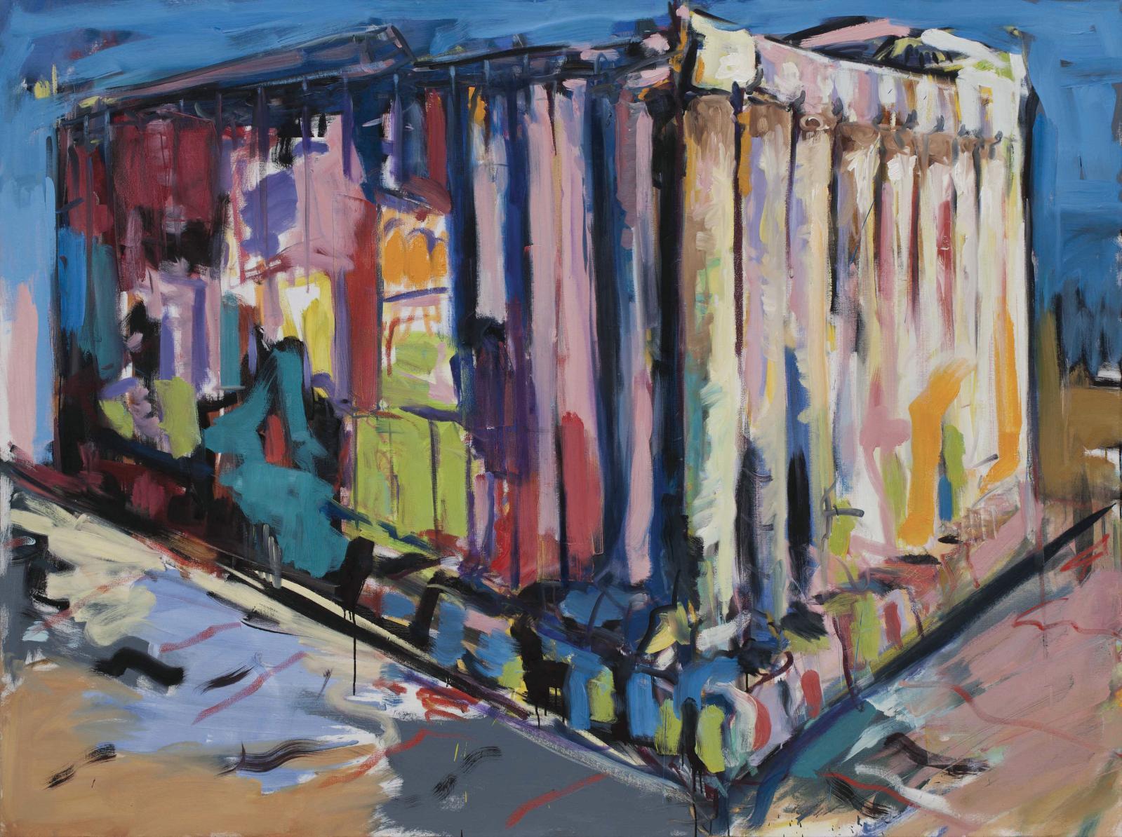Jean-Paul Guiragossian (né en 1967), Baalbek, 2016, huile sur toile, 160x200cm (détail).