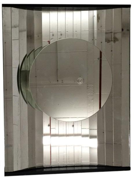 347€Erik Borja (XXe siècle), miroir cinétique, 52x40x6cm. Drouot, 6février 2016.Drouot EstimationsOVV.