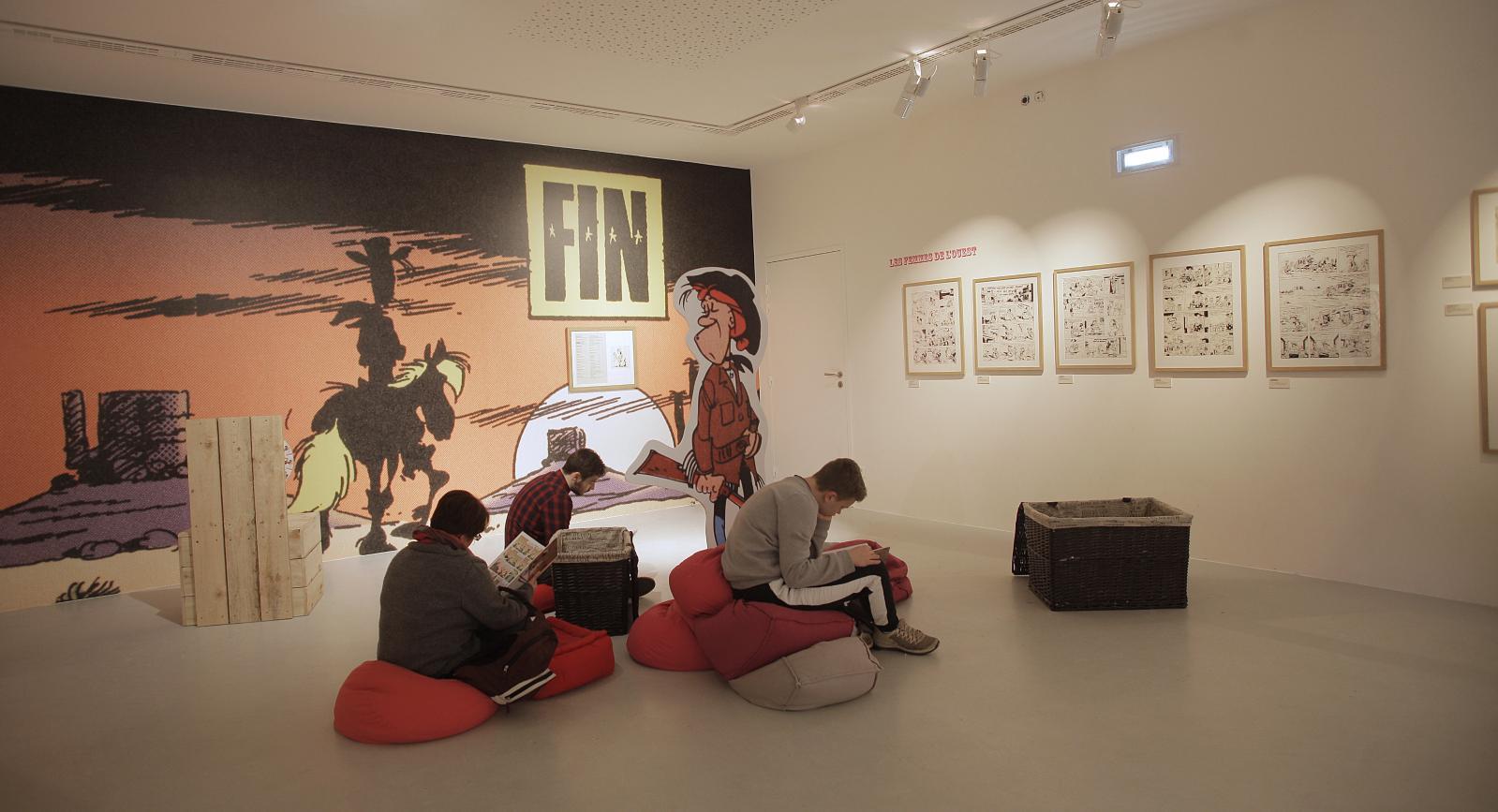 «L'art de Morris», Cité internationnale de la bande dessinée et de l'image d'Angoulême.