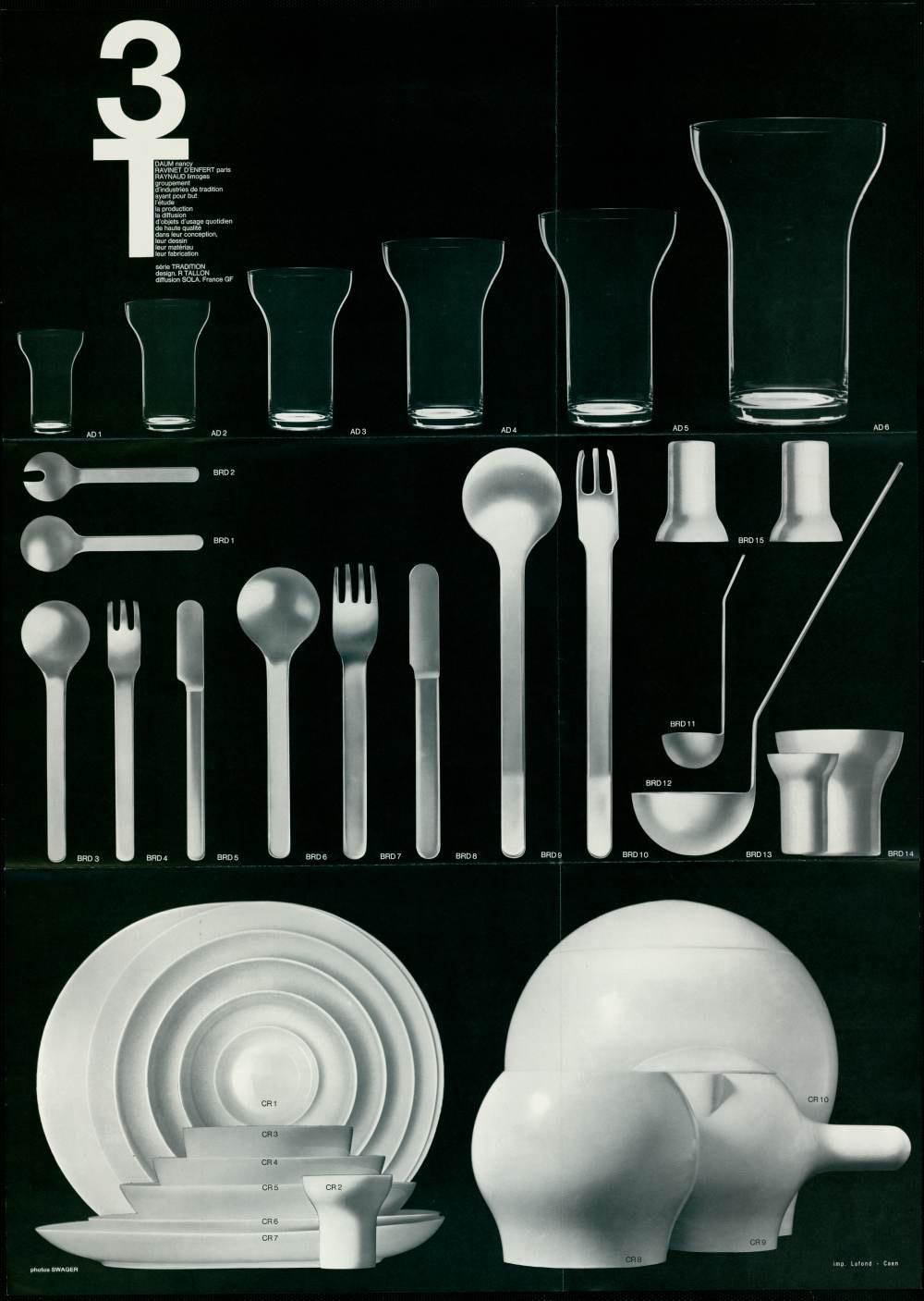 Service de table 3T, 1967.