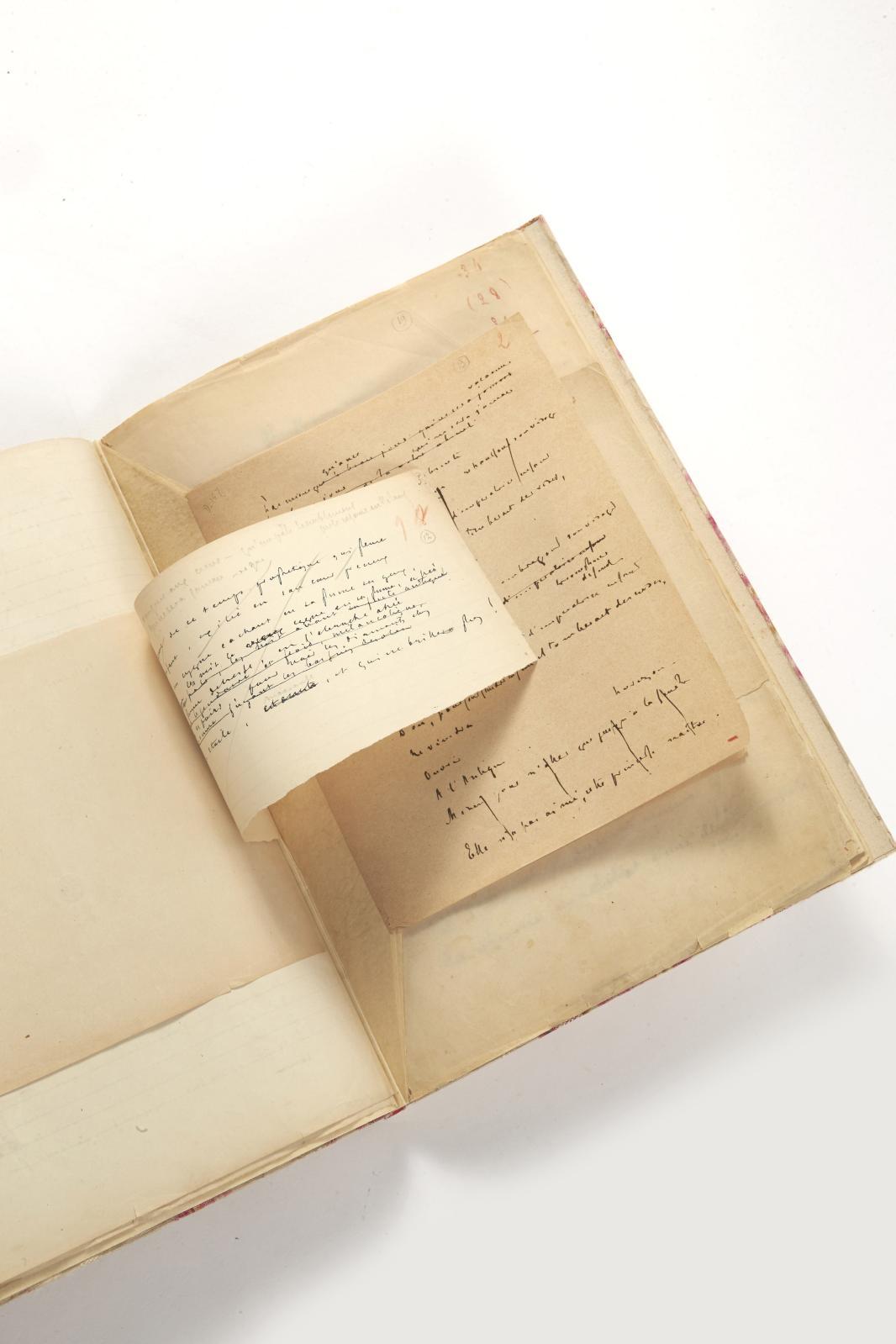 Stéphane Mallarmé (1842-1898), Les Noces d'Hérodiade, Mystère, manuscrit autographe de 116 feuillets sur papier fin de différents formats et un buvard