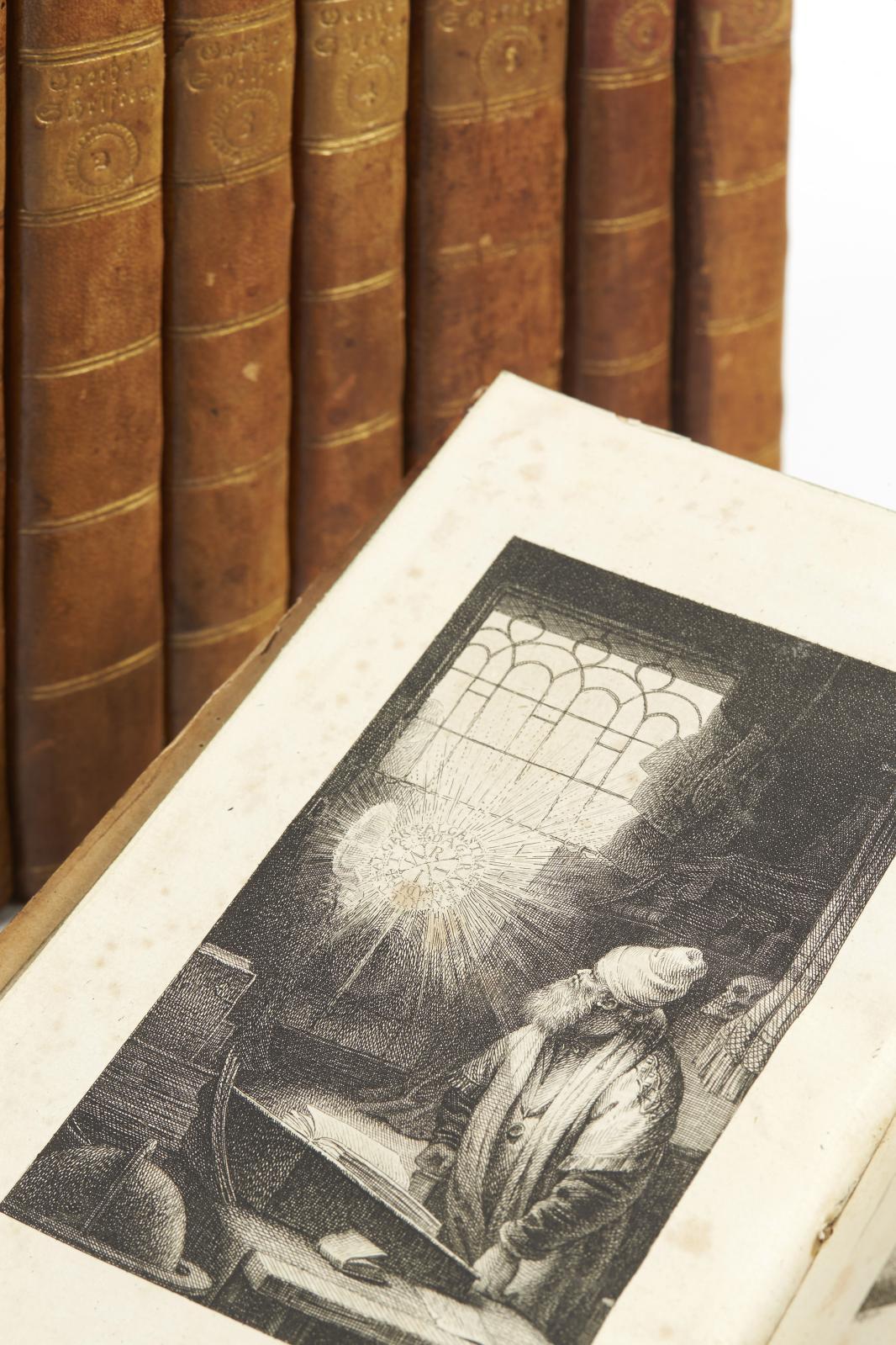 Johann Wolfgang von Goethe (1749-1832), Goethe's Schriften, Leipzig, Georg Joachim Göschen, 1787-1790, 8 volumes petit in-8° : demi-veau fauve à coins
