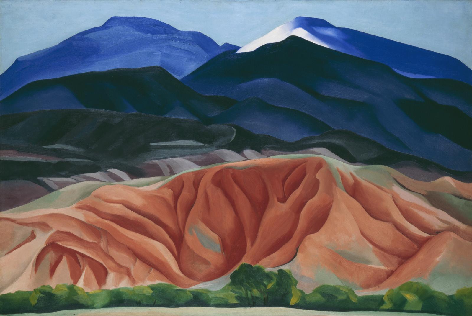 Black Mesa Landscape, 1930, huile sur toile, 61,6x92,1cm, détail.