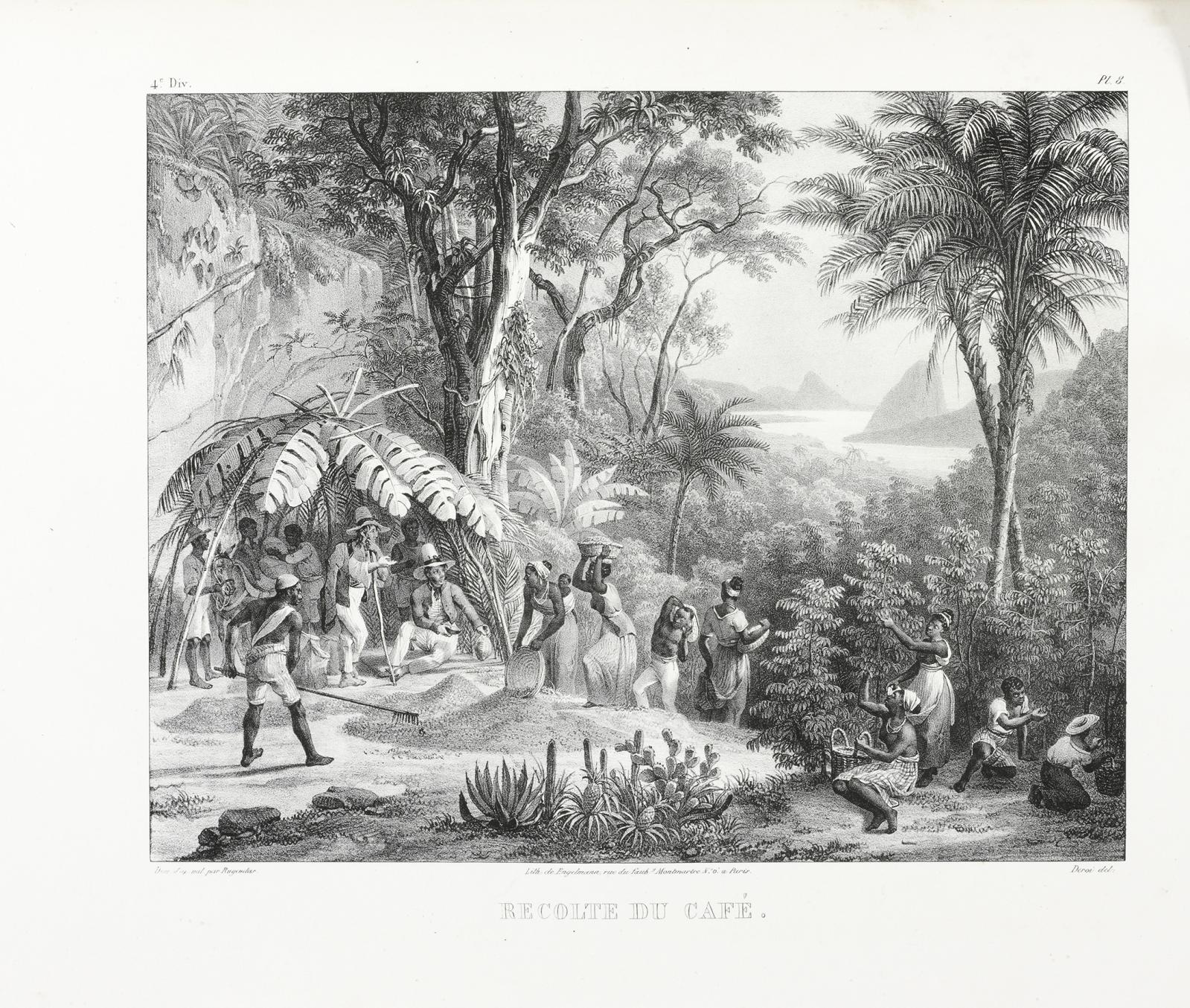 24375€Maurice Rugendas (1802-1858), Voyage pittoresque dans le Brésil, Engelmann & Cie, 1835, in-folio, 100 lithographies d'après les compositions e