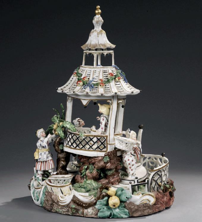 43 800 € frais compris.Pagode chinoise en porcelaine, vers 1770. Paris, Drouot, 19 novembre 2007. Daguerre & Brissonneaux SVV. M. Froissart.