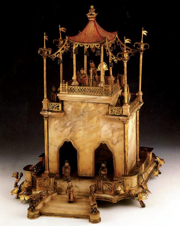 35 444 € frais compris. Pagode chinoise en marbre, fin XVIIIe. Paris, Drouot, 8 mars 2002. Blanchet & Joron-Derem SVV. M. Lepic