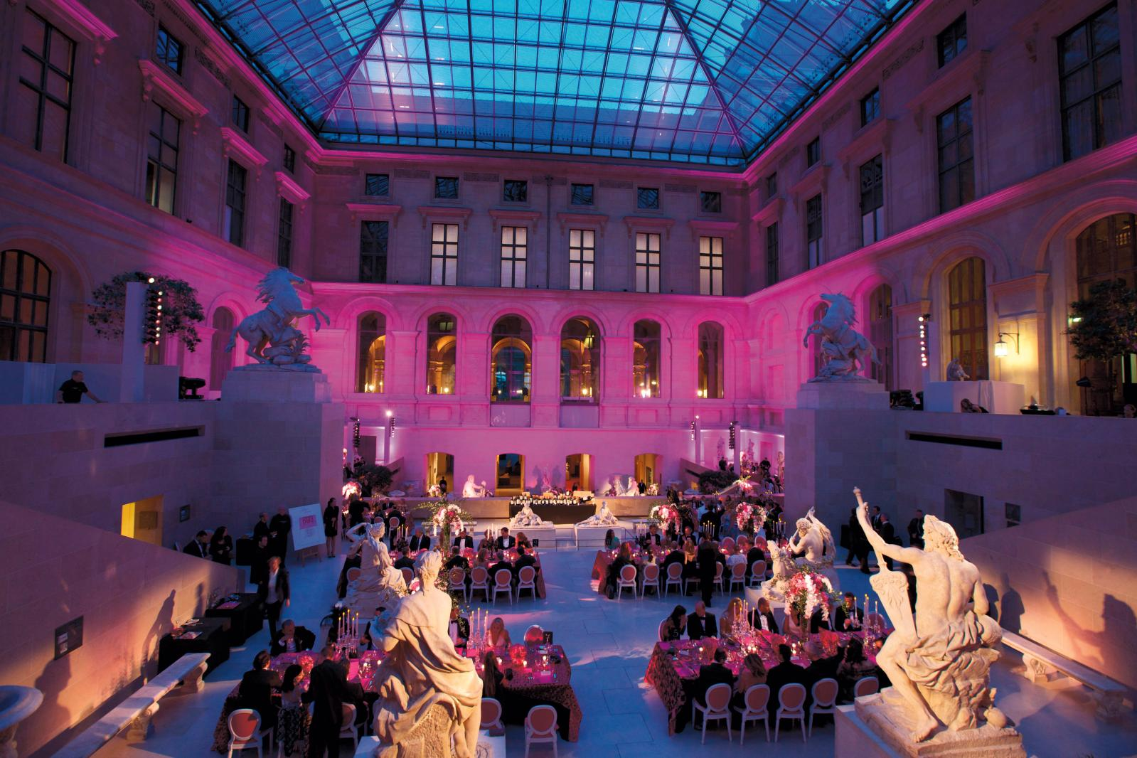 """Liaison"" gala evening at the Louvre in 2011, beneath the pyramid."