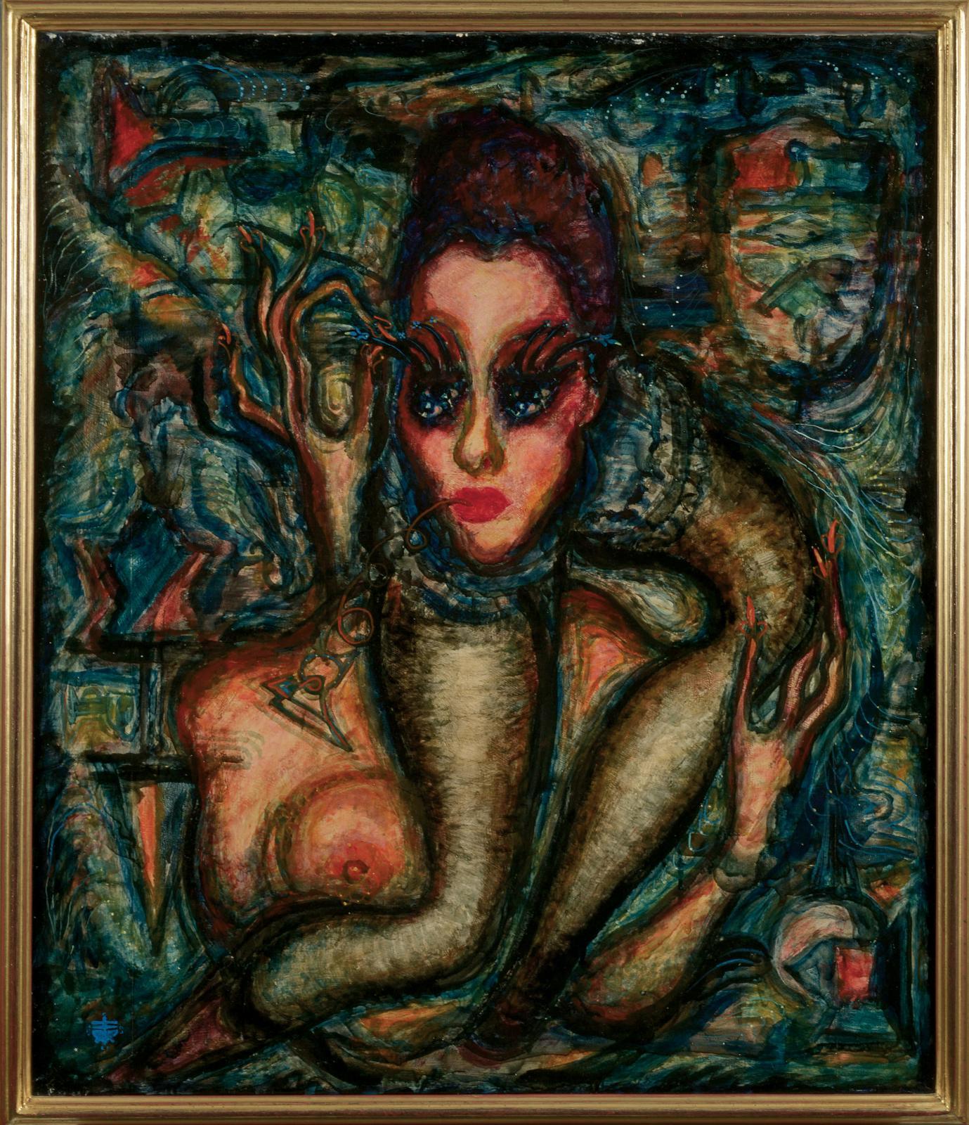 Pierre Molinier (1900-1976), Deux autoportraits légendés- 1965, tirage argentique sur papier perlé et tirage argentique sur Agfa doux, collés sur la