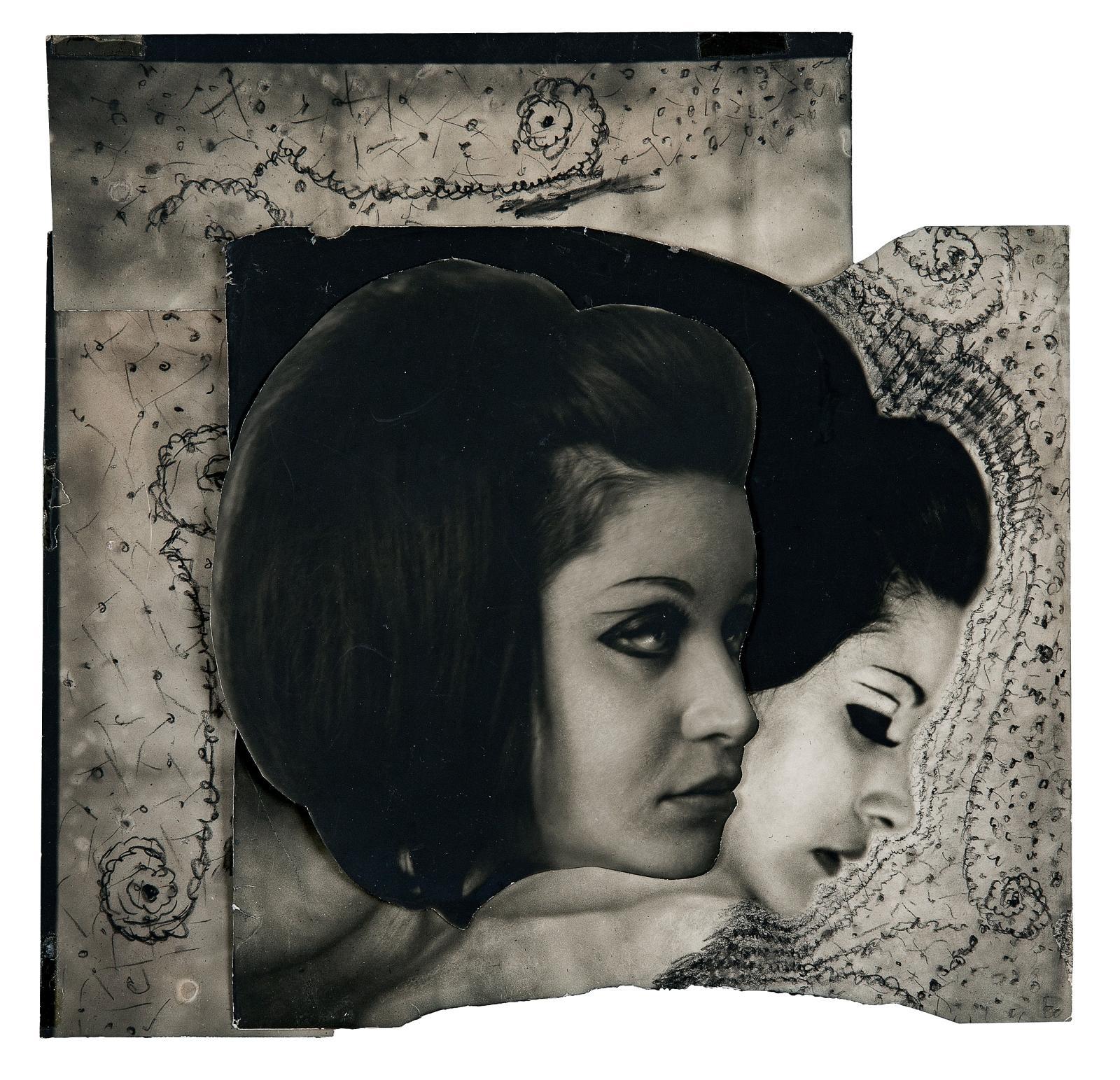 Les Hanel1- Collage original, 1969, collage pour la planche33 du Chaman et ses créatures, 25,5x18cm (détail). Estimation: 10000/15000€