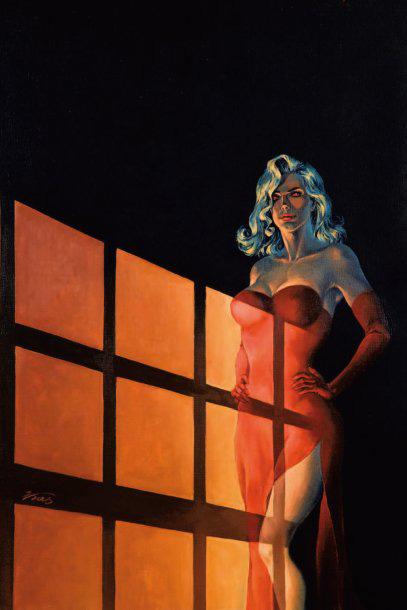 3600€Zbigniew Kasprzak dit Kas (né en 1955), Halloween Blues, huile sur toile montée sur châssis, signée, 69x49,5cm.Hôtel Dassault, 13mars2010.