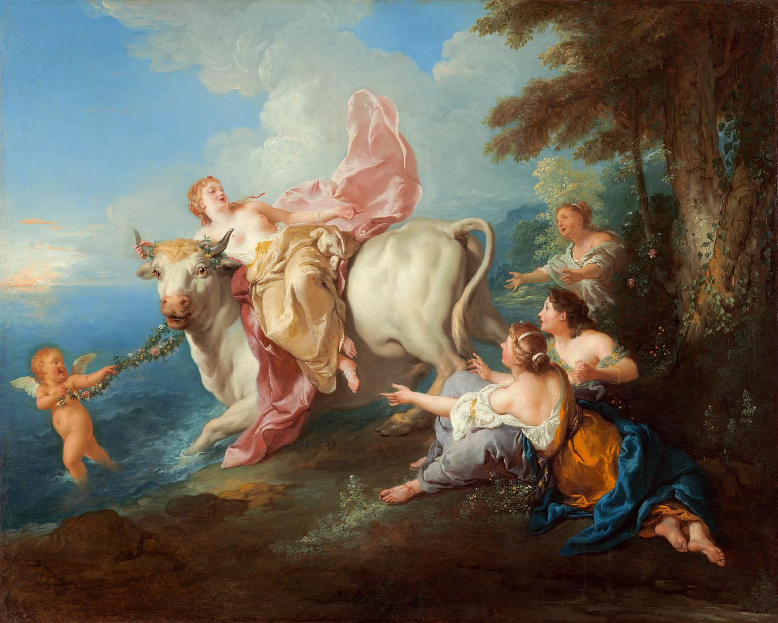 Jean-François de Troy (1679-1752), L'Enlèvement d'Europe (The Abduction of Europa), oil on canvas, 66.5 x 82 cm.Bought by the Washington National Gall