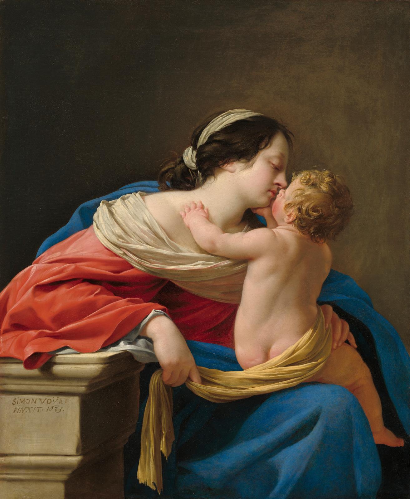 Simon Vouet (1590-1649), Vierge à l'Enfant (Virgin and Child), 1633, oil on canvas, 110.3 x 89.4 cm.