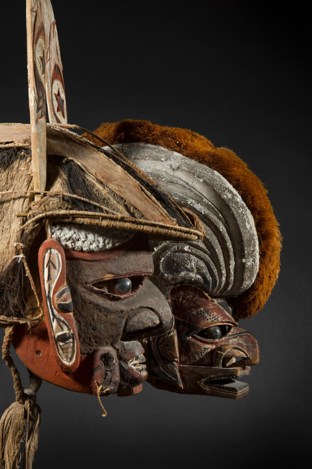 New Ireland, The Bismarck Archipelago, late 19th- early 20th, Kipong and Tatanua masks, h. 32 cm. Galerie Flak, Paris.