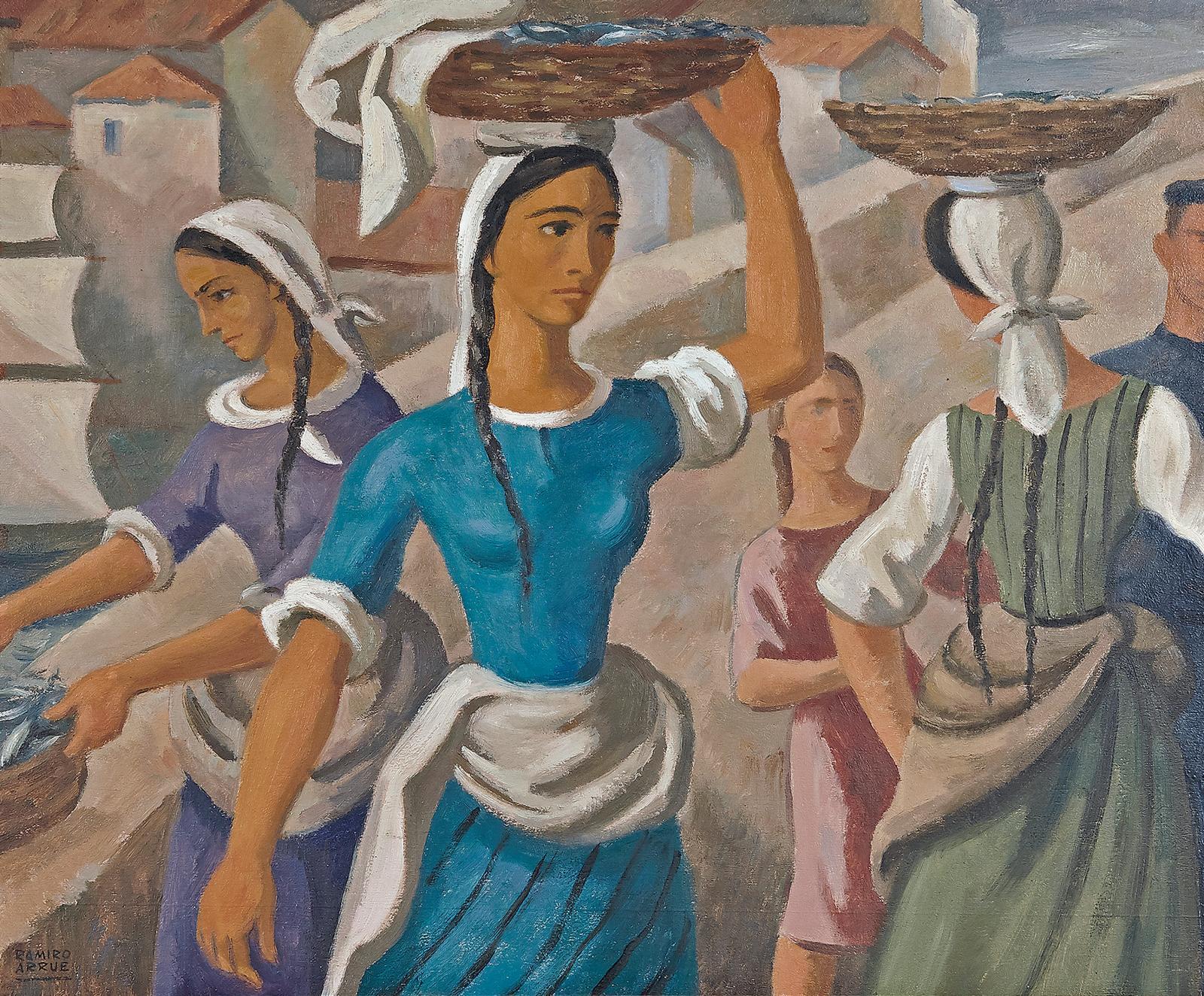 Ramiro Arrue (1892-1971), Les Kaskarots, huile sur panneau, 50x60cm. Adjugé: 60750€