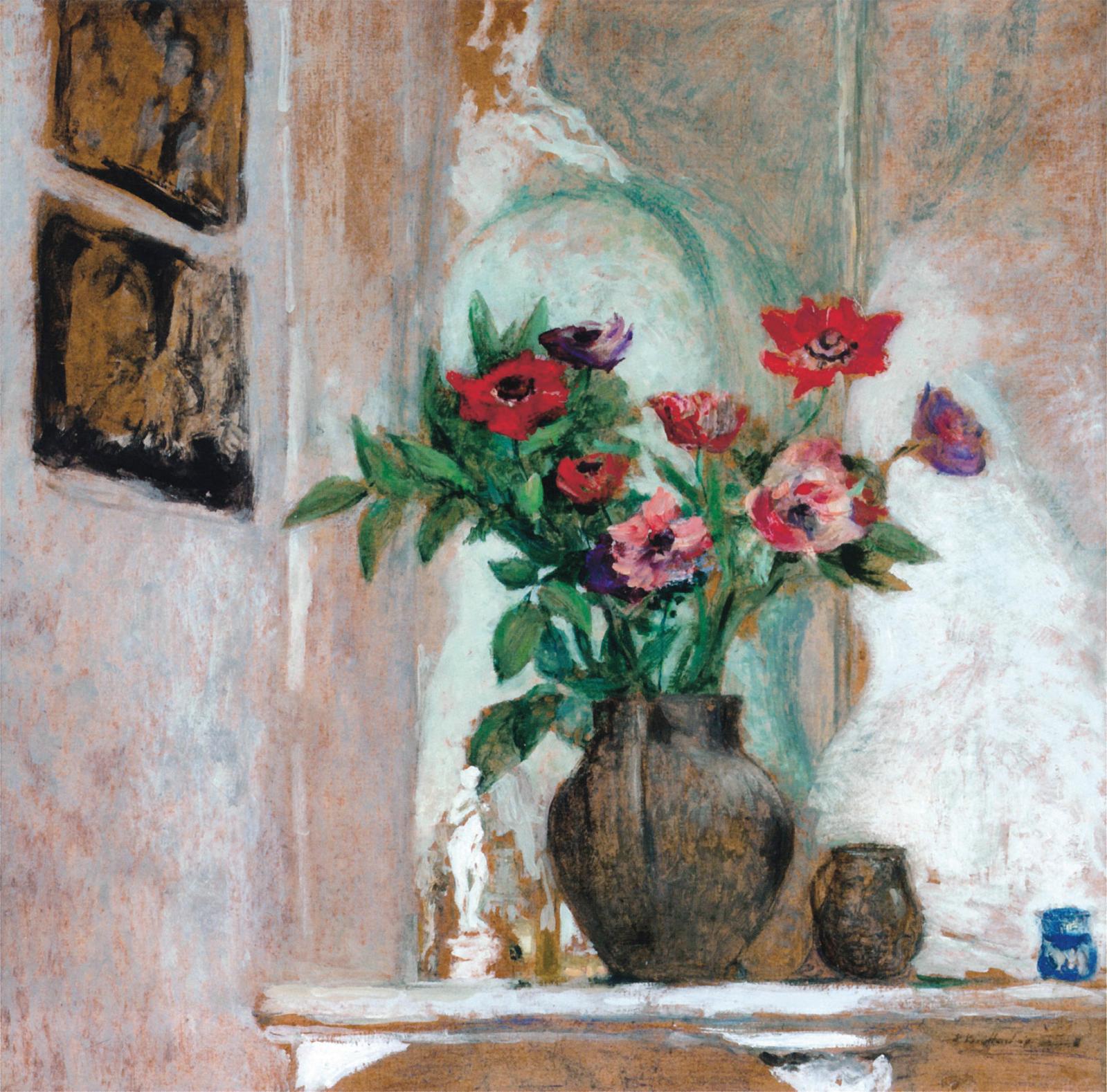 62750€: c'était la somme à prévoir pour acquérir une peinture d'Édouard Vuillard (1868-1940), mettant en scène des Anémones. Réalisée à la colle su
