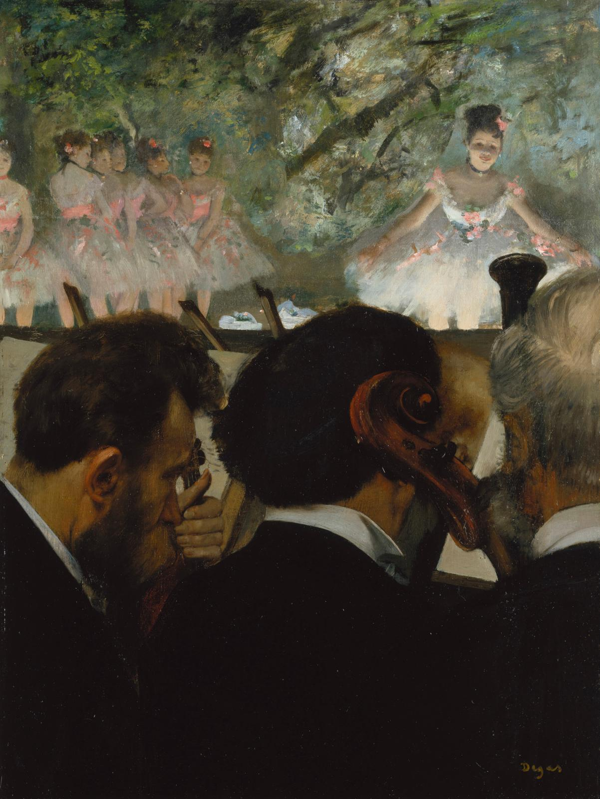 Musiciens à l'orchestre (Musicians in the Orchestra), 1872-76, oil on canvas, Frankfurt am Main, Städel Museum.© STADEL MUSEUM- ARTOTHEK