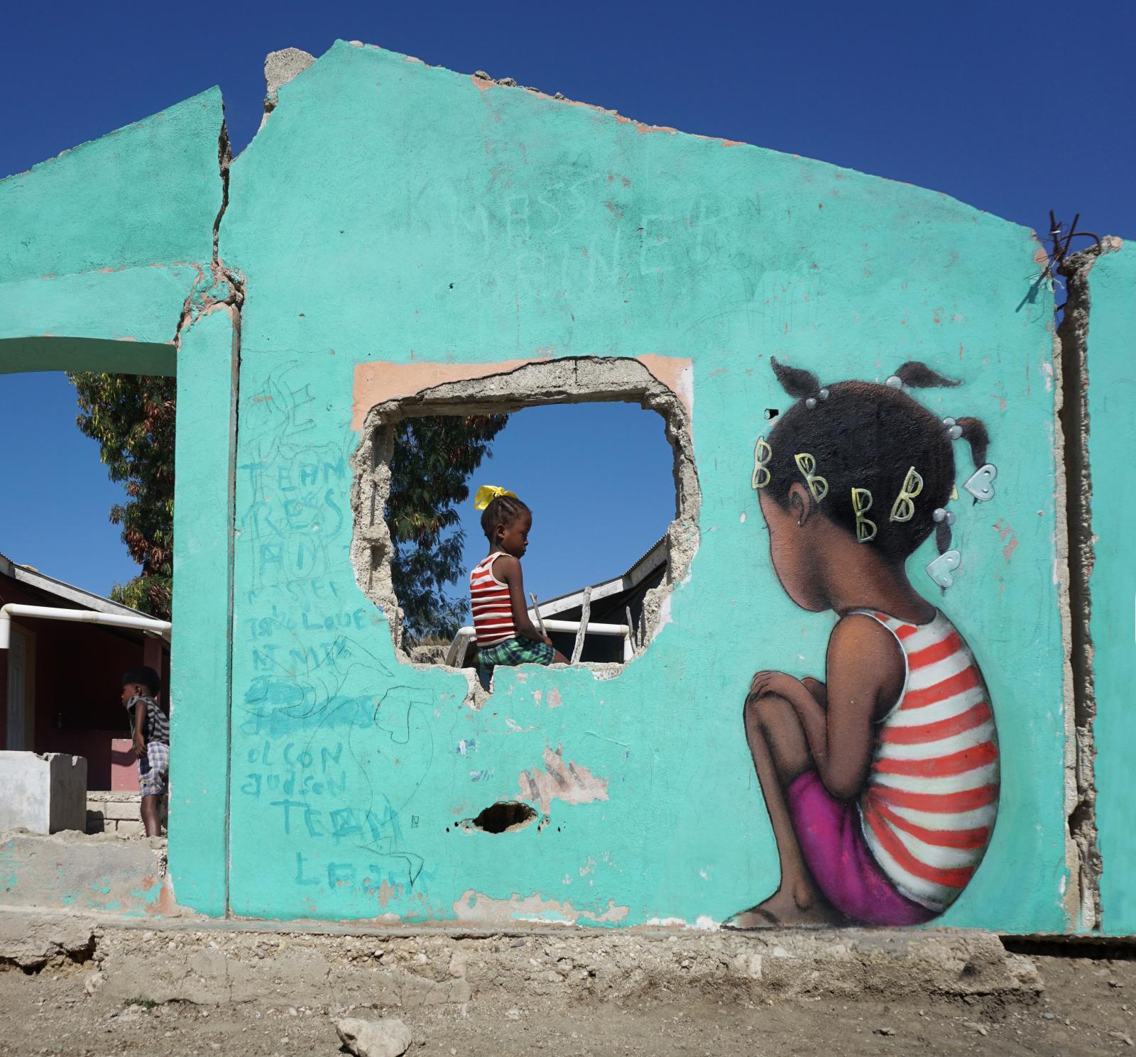 Seth (né en 1972), À la plage, Haïti.