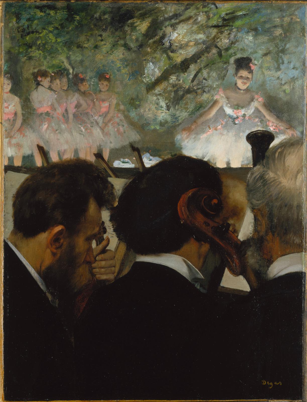 Musiciens à l'orchestre, 1872-1876,huile sur toile, Frankfurt am Main,Städel Museum.