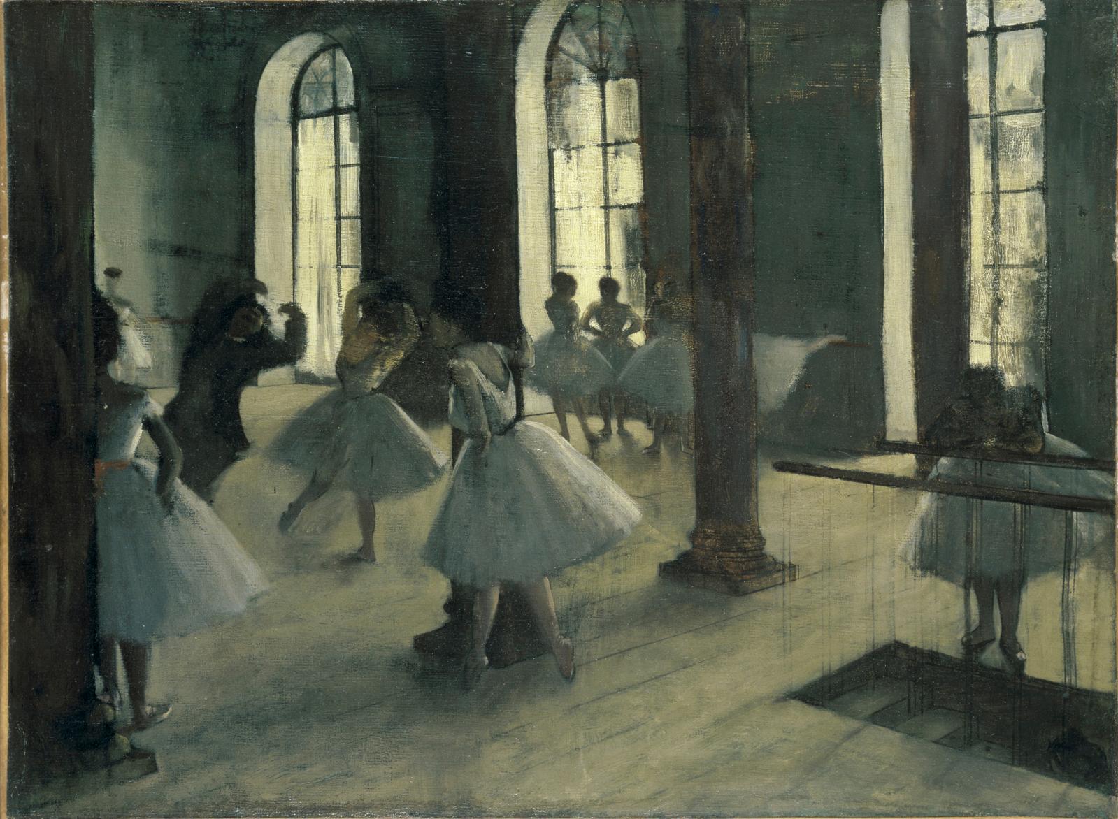 La Répétition au foyer de la danse, vers 1870-1872, huile sur toile, Washington DC, The Phillips Collection.