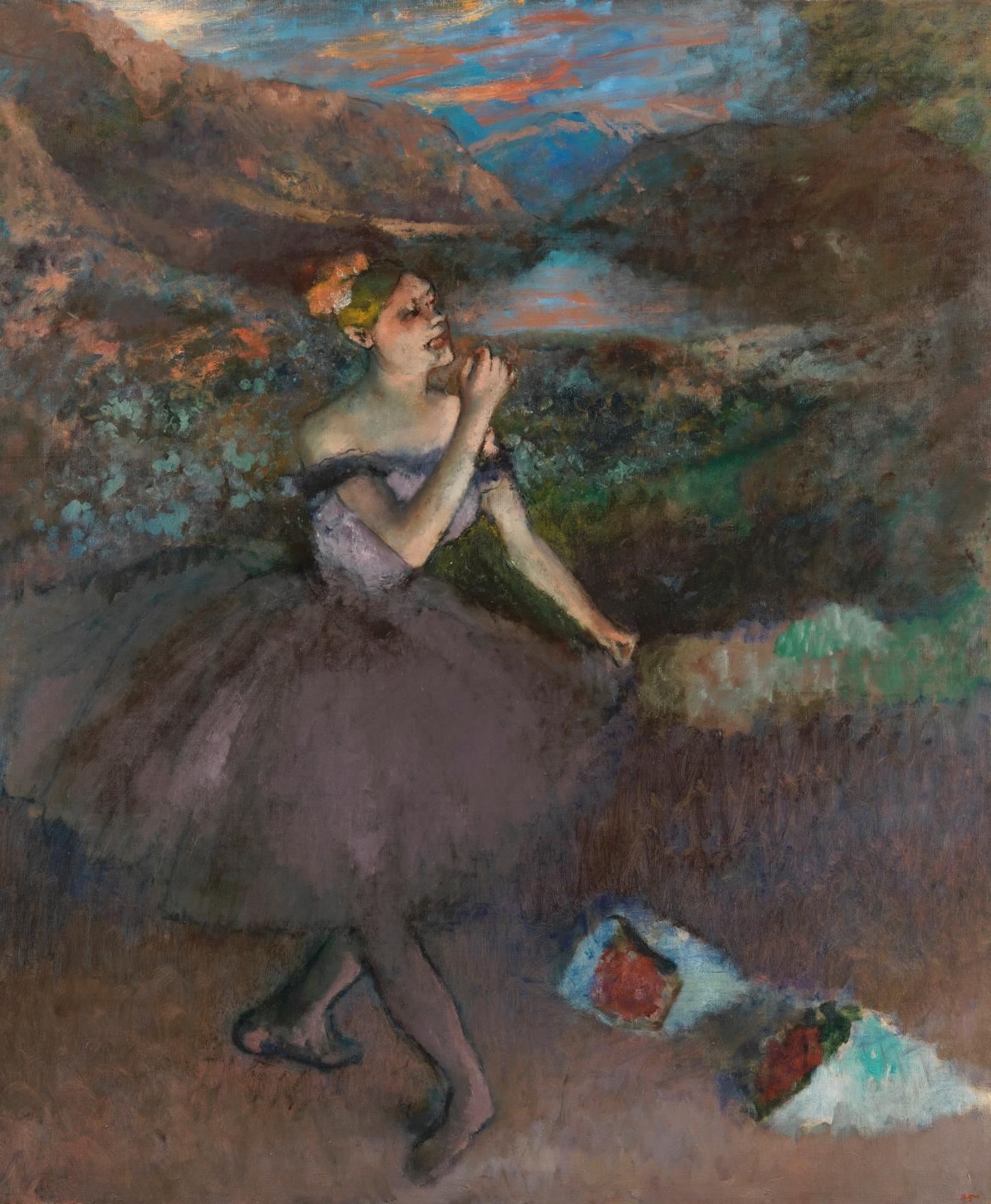 Danseuse au bouquet saluant, vers 1895-1900, huile sur toile, Chrysler Museum of Art, Norfolk.
