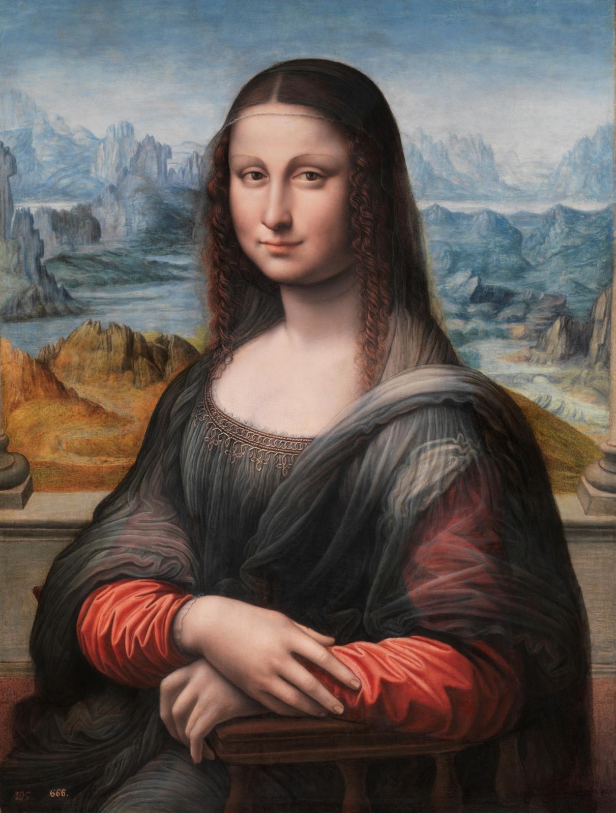 Atelier de Léonard de Vinci, vers 1503-1519, huile sur noyer.