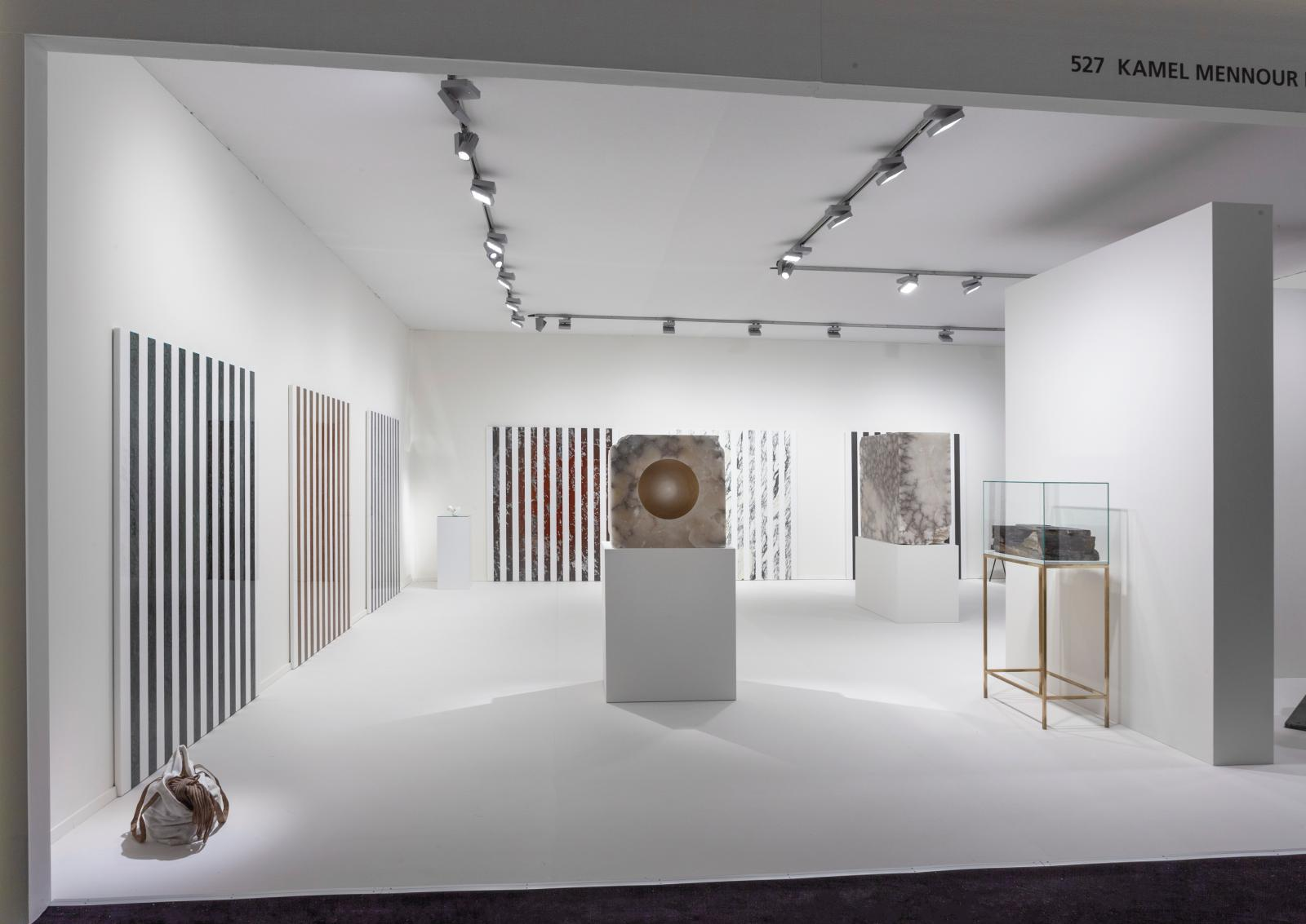 "The Kamel Mennour gallery's booth, ""Stone"", at TEFAF Maastricht 2019© Alicja Kwade Photo Sebastiano Pellion di Persano. Courtesy the artis"