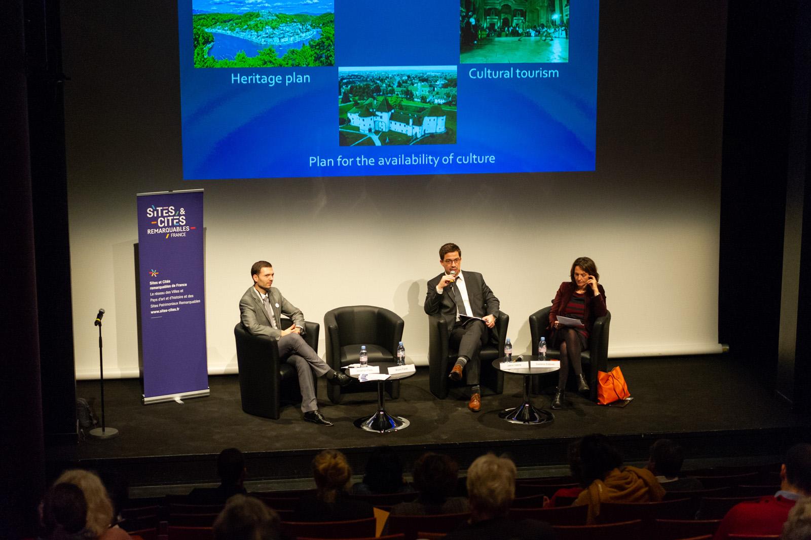 Conférence de Sites &Cités remarquables de France au Salon international du patrimoine culturel 2018.