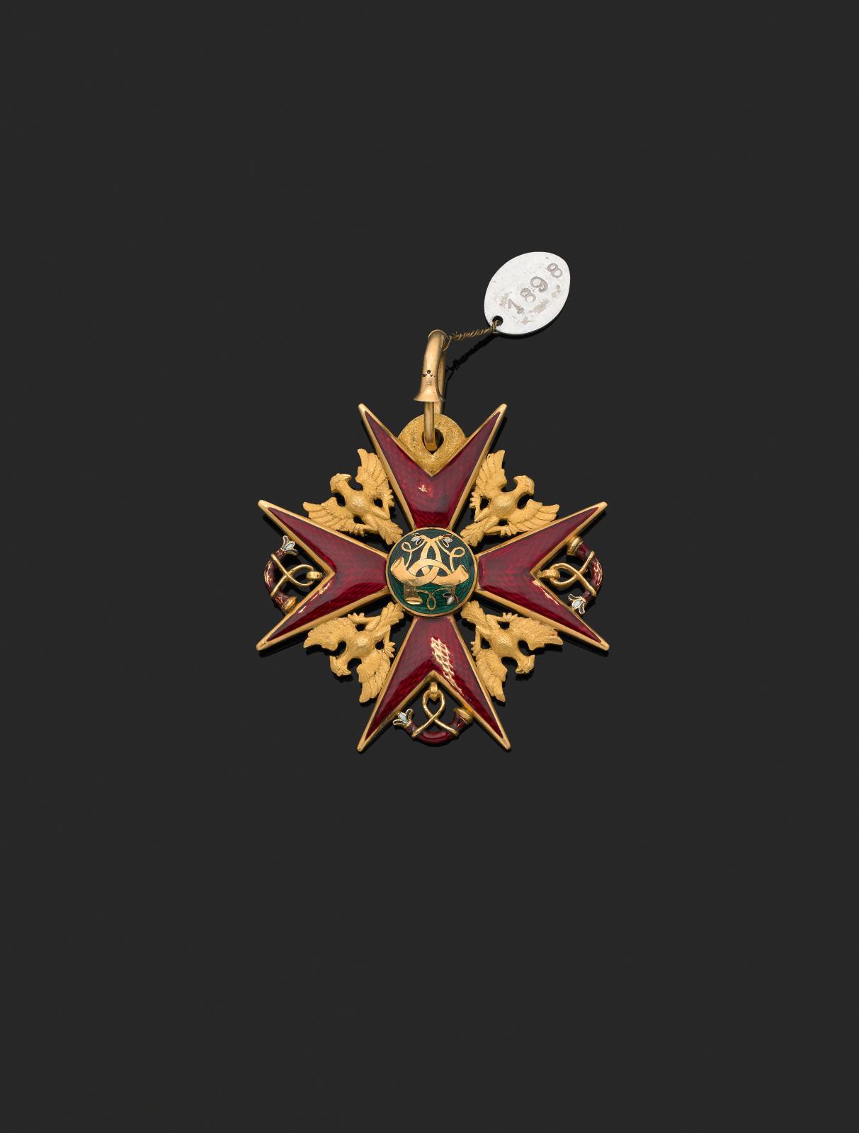 Royaume de Wurtemberg, ordre de la Chasse fondé en1702, devenu ordre de l'Aigle d'or en1807, bijou de chevalier de l'ordre de la Chasse