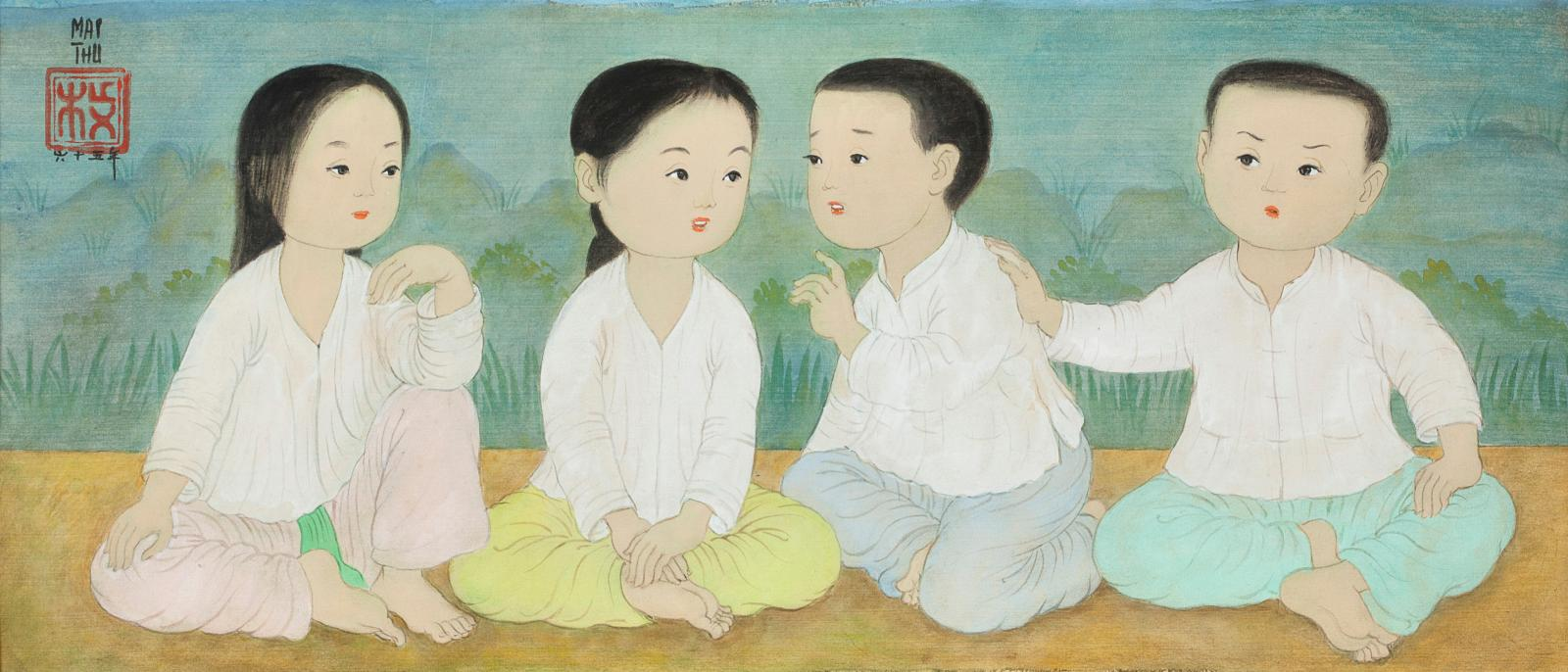 Cette vacation offrait un véritable festival Mai-Thu, avec six œuvres de l'artiste, dont quatre adjugées au-dessus de 100000€ (voir ci-d