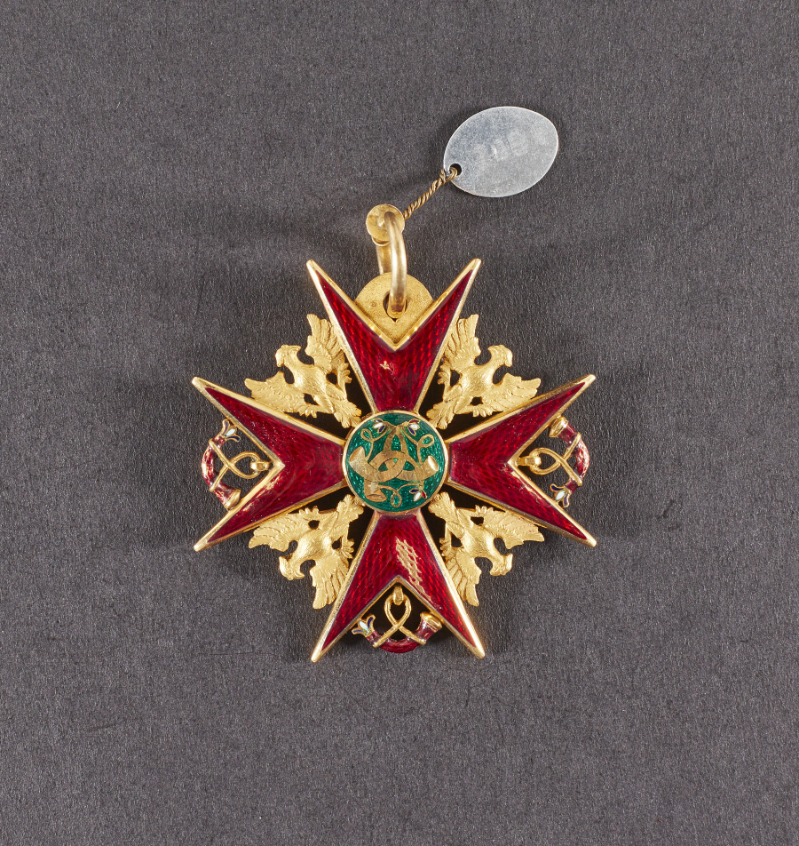 Kingdom of Wurtemberg, Order of the Hunt founded in 1702, renamed Order of the Golden Eagle in 1807, knight's badge of the Order of the Hu