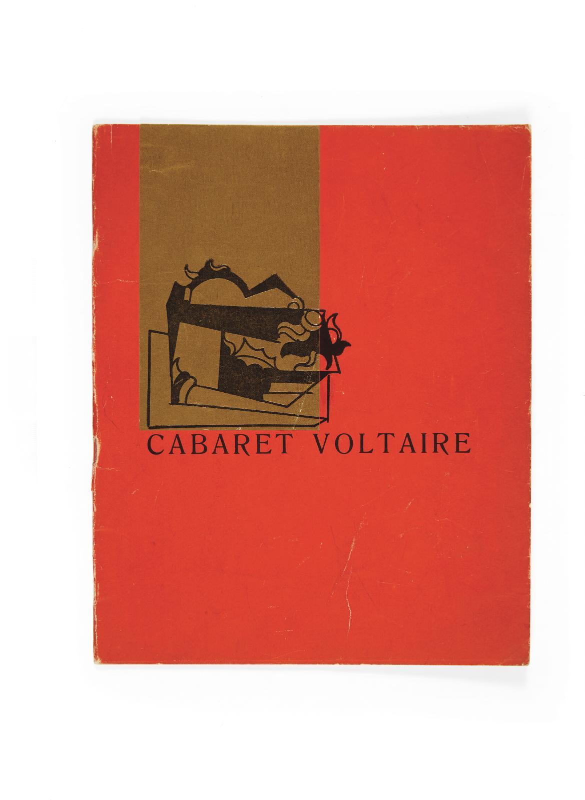 Cabaret Voltaire, Zurich, 1916, exemplaire de l'édition originale,recueil in-4°, agrafé, couverture cartonnée rouge, illustrée d'un dessin
