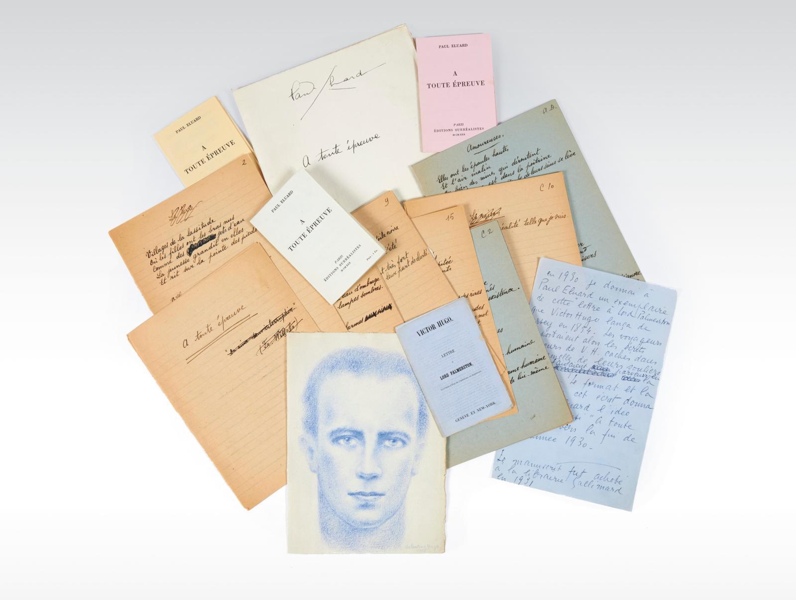 Paul Éluard (1895-1952). À toute épreuve. Paris, Éditions surréalistes, 1930, plaquette in-32, trois exemplaires tirés sur des papiers de