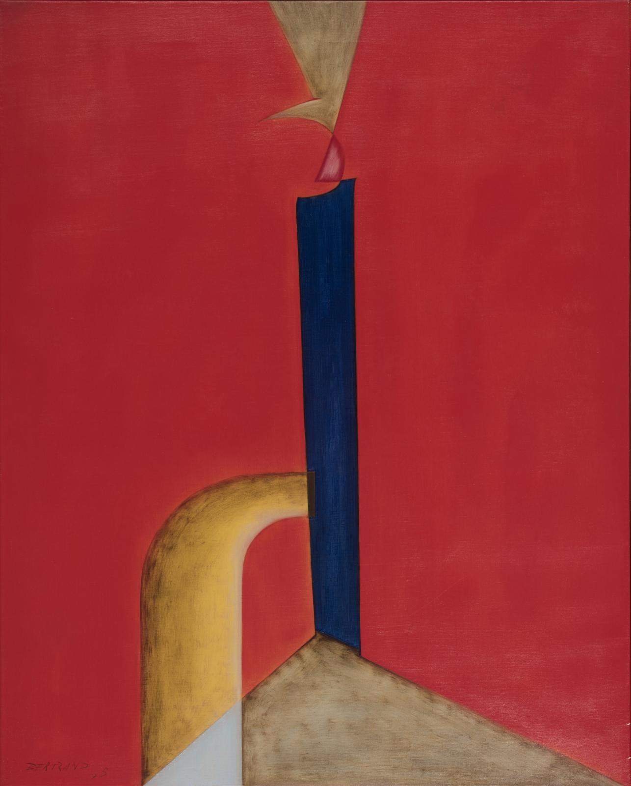 Gaston Bertrand (1910-1994), Évidence du bleu, 1965, huile sur toile, 81x65cm (détail).