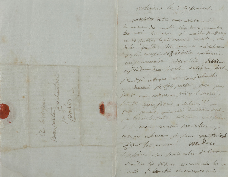 €221,000Napoleon Bonaparte (1769-1821) to Josephine, love letter written at Millesimo during the Italian campaign, 18 April 1796.Paris, Dr