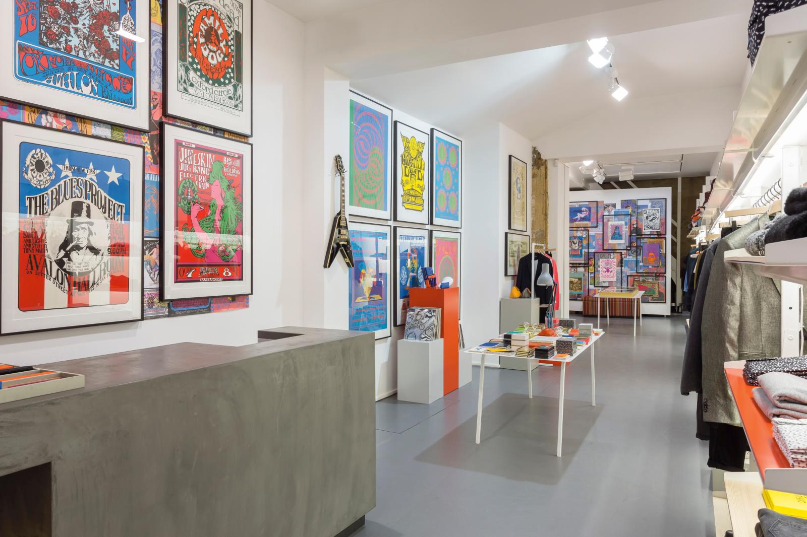 In a Paris shop decorated by 1970s posters bought by Smith.© Paul Smith