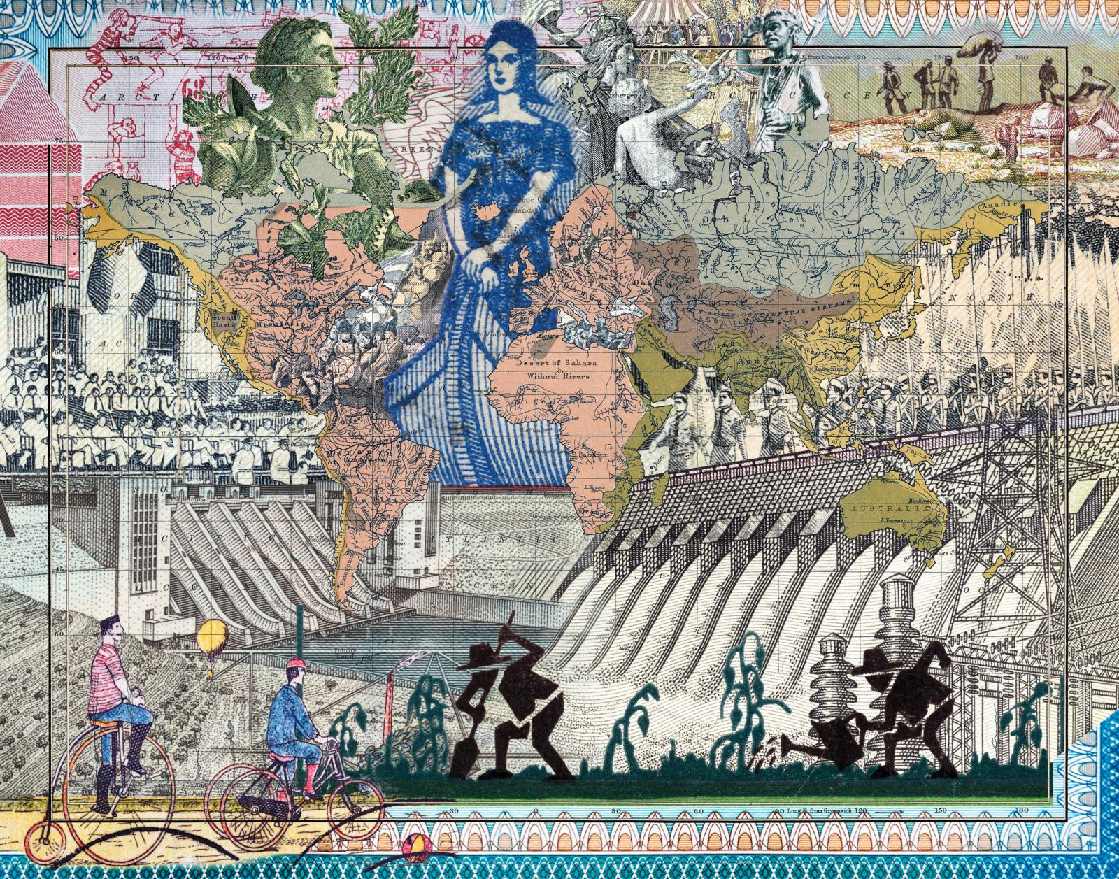 Malala Andrialavidrazana (née en 1971), Figures 1852, River Systems of the World, 2018, tirage pigmentaire, 110 x 158 cm.