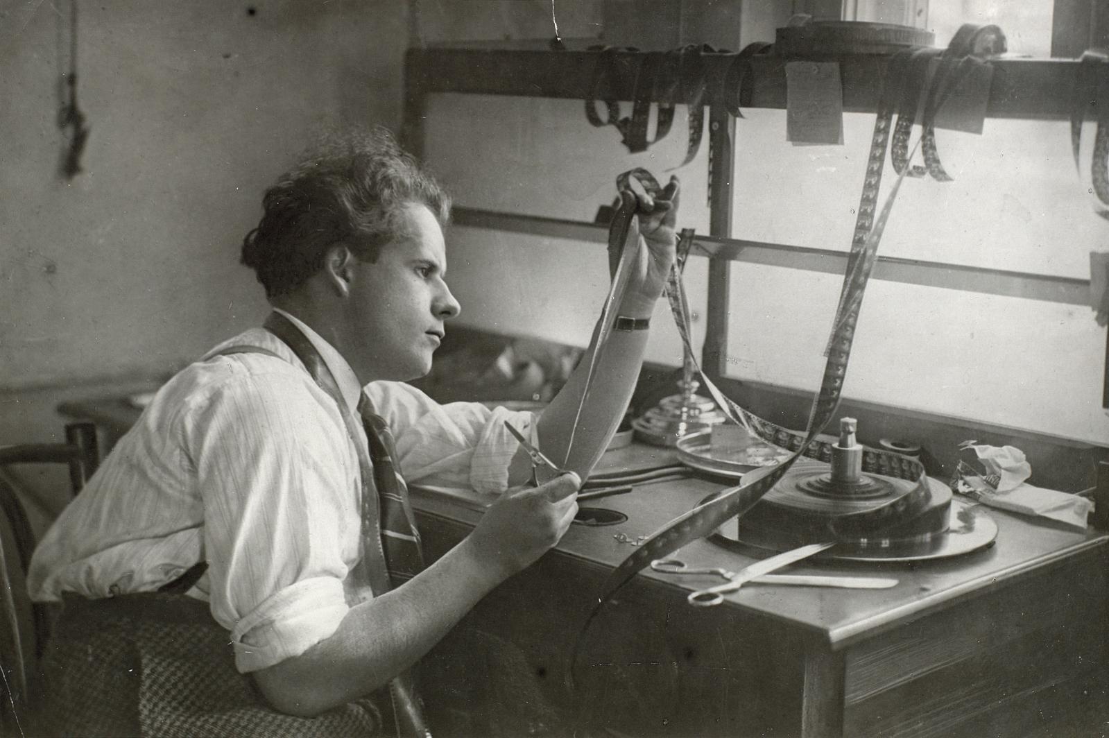 Eisenstein montant Octobre, 1927.