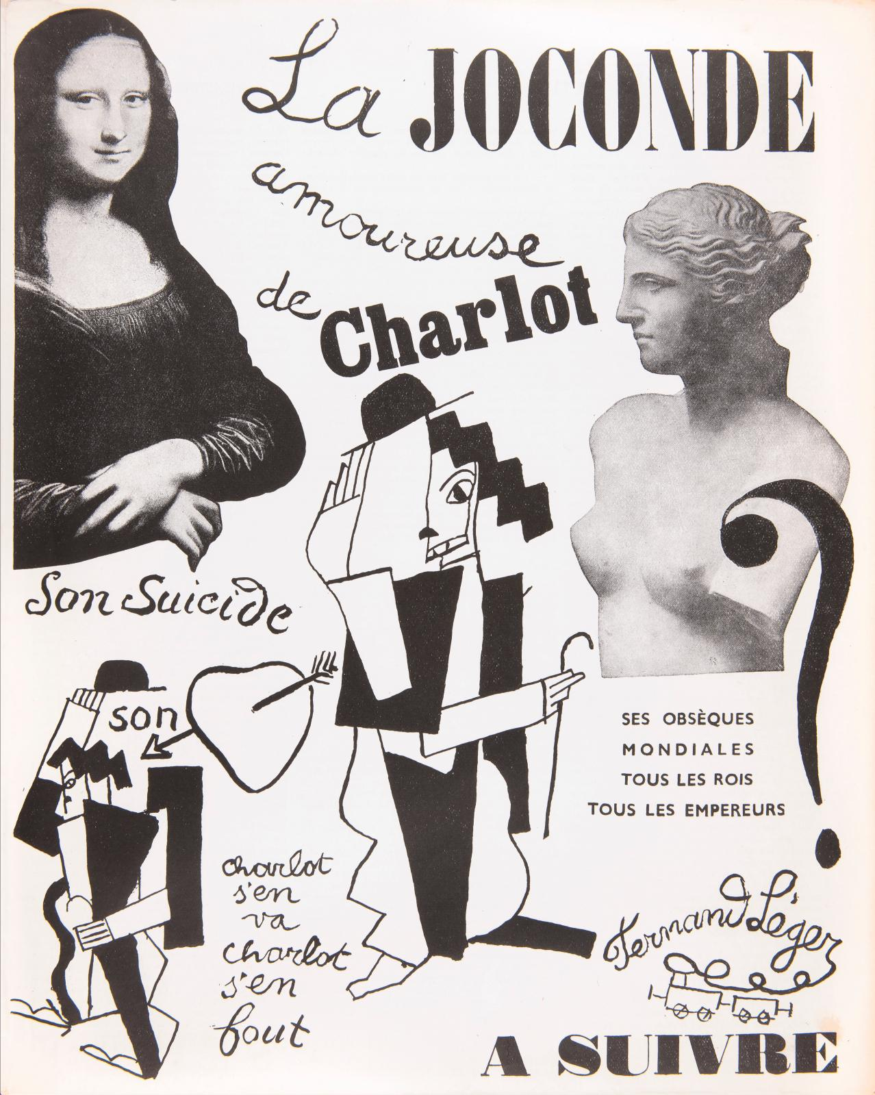 Fernand Léger (1881-1955), La Joconde amoureuse de Charlot, in 14 Rue du Dragon no 1, mars 1933.