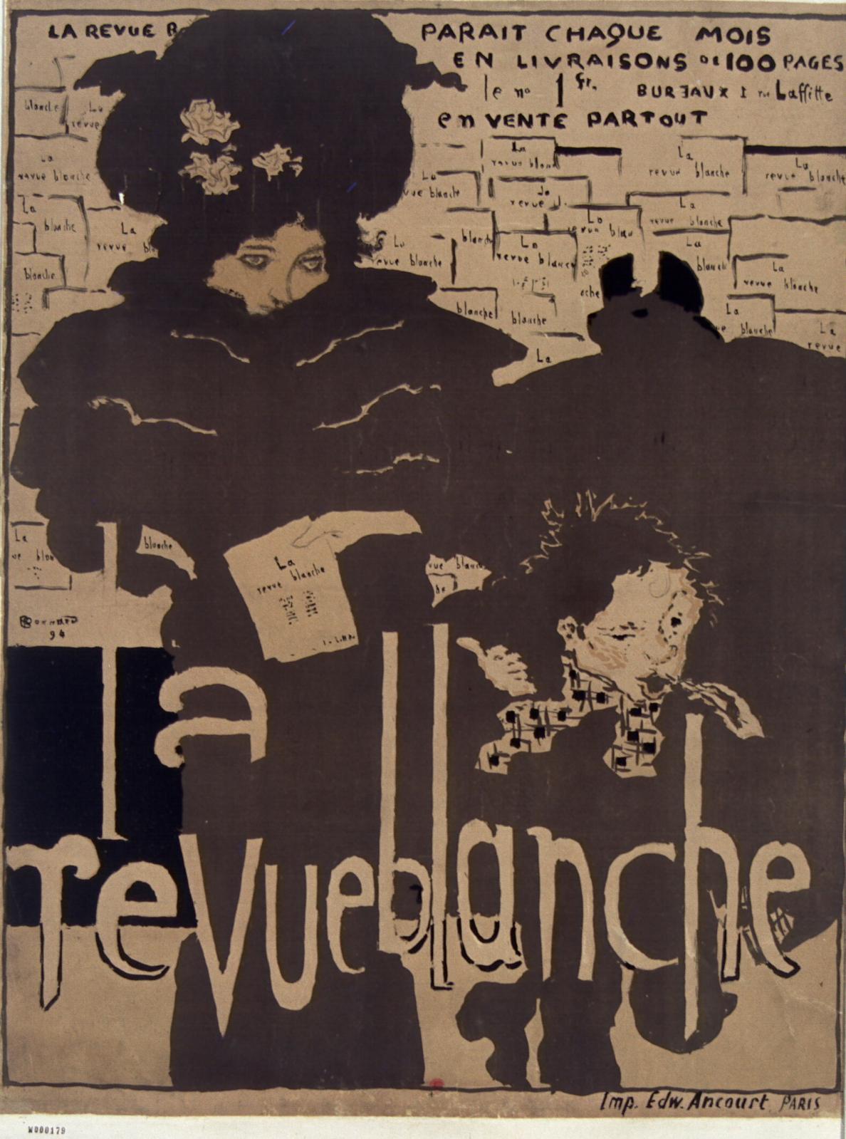 Pierre Bonnard, La Revue Blanche, 1891, lithographie en quatre couleurs, 80x60cm.