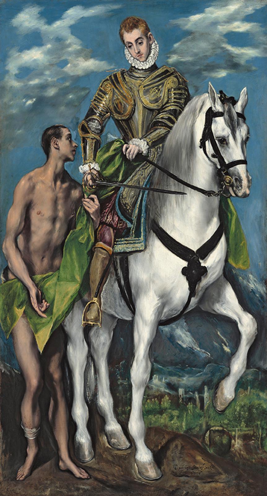 Dominikos Theotokopoulos, dit le Greco, Saint Martin et le mendiant, 1597-1599, huile sur toile, 193,5x103cm.