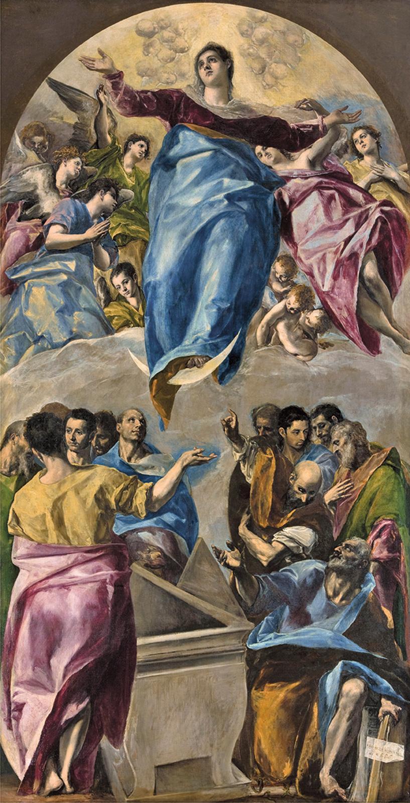 Dominikos Theotokopoulos, dit le Greco, L'Assomption de la Vierge, 1577-1579, huile sur toile, 403,2x211,8cm.