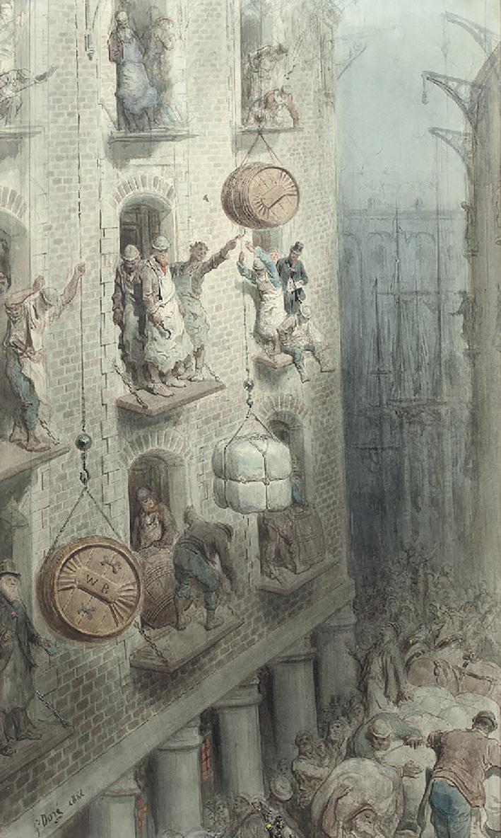 Gustave Doré(1832-1883) découvre Londres en tant qu'observateur peu avant la guerre franco-prussienne de 1870. Il en rapporte quantité de