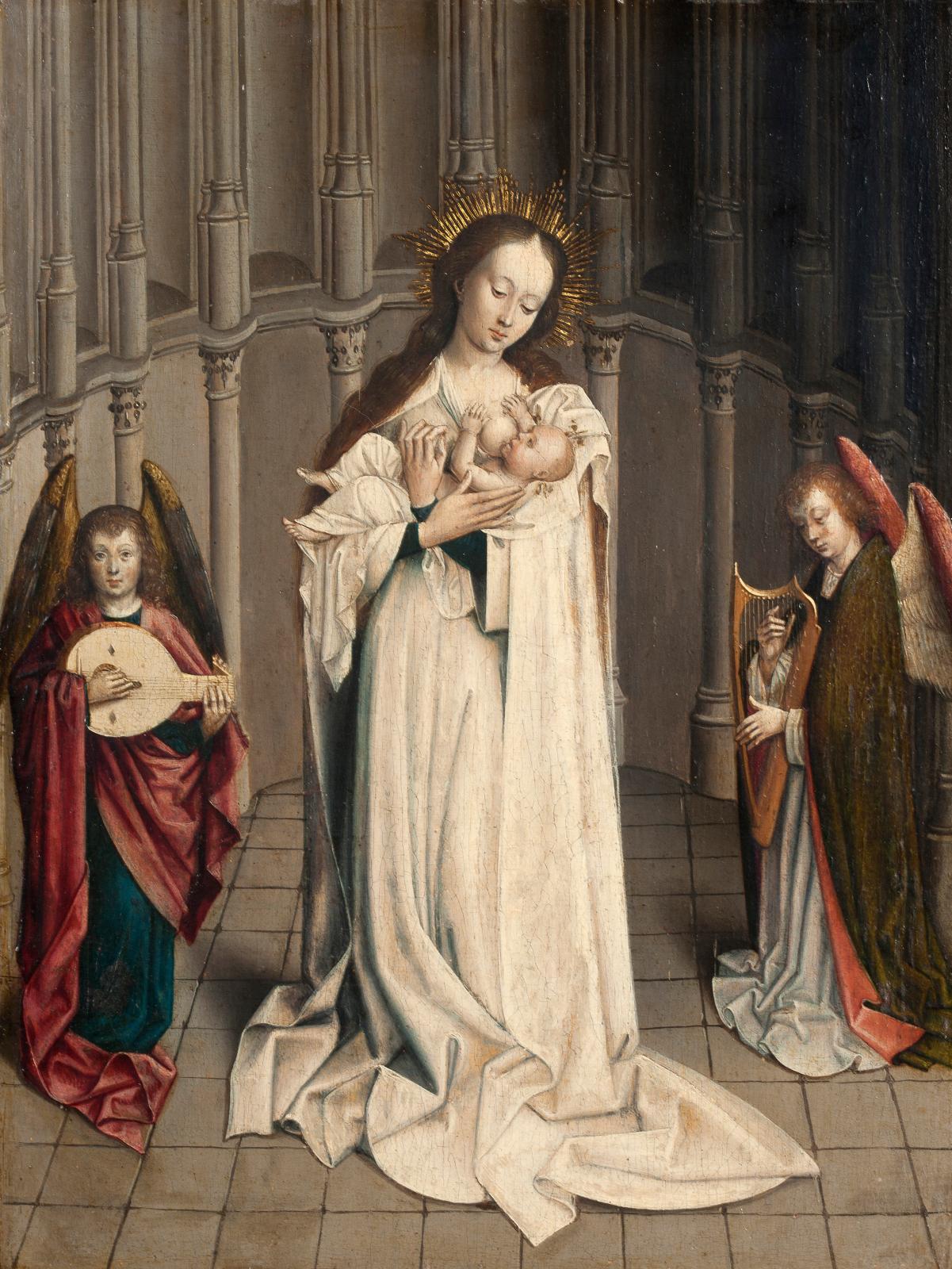 La douce mélodie des anges résonnait à nouveau, cette fois sur ce panneau réalisé au XVesiècle par l'atelier de Robert Campin, dit le Maî